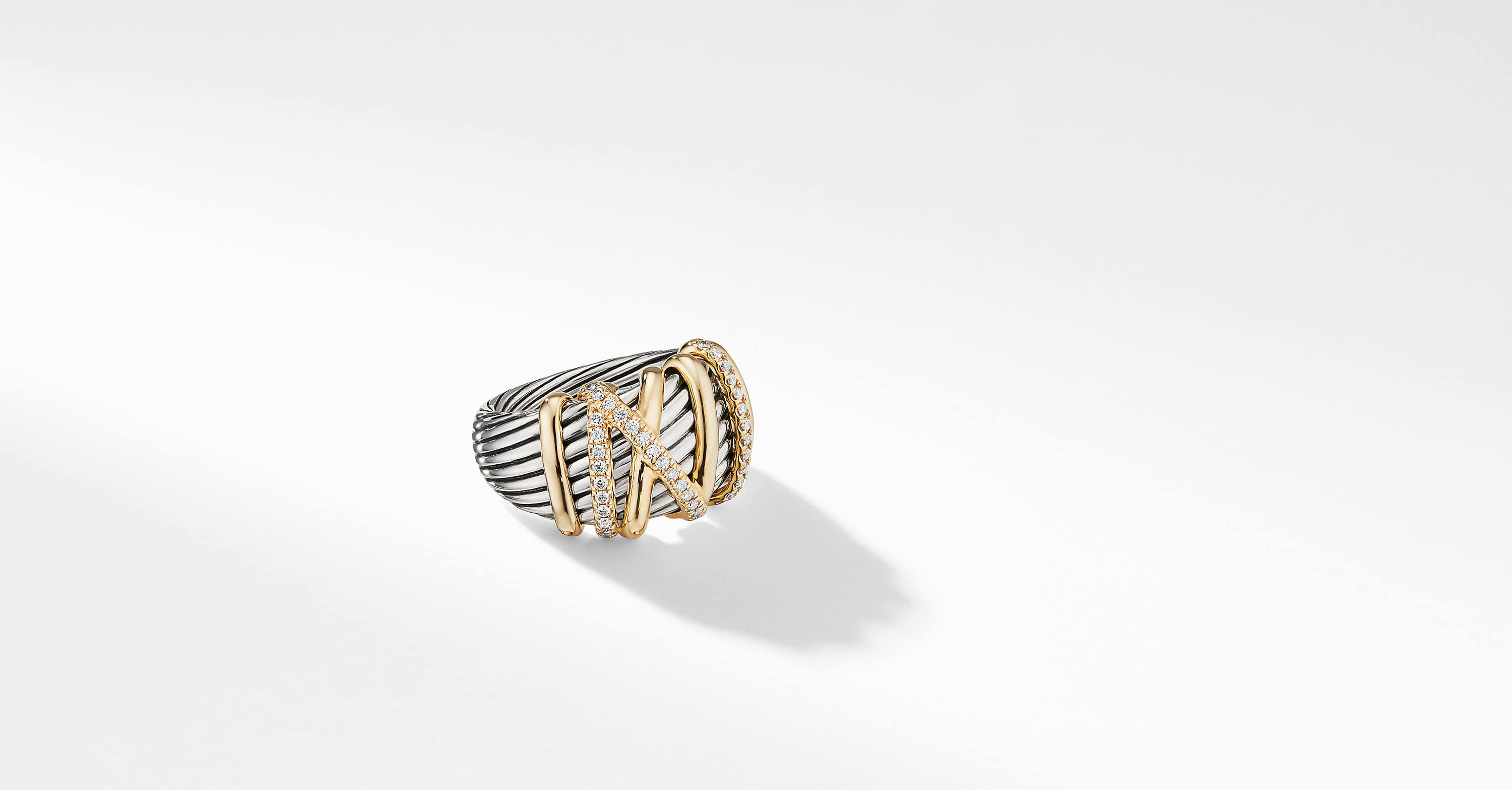 Helena Statement Ring with 18K Gold with Diamonds