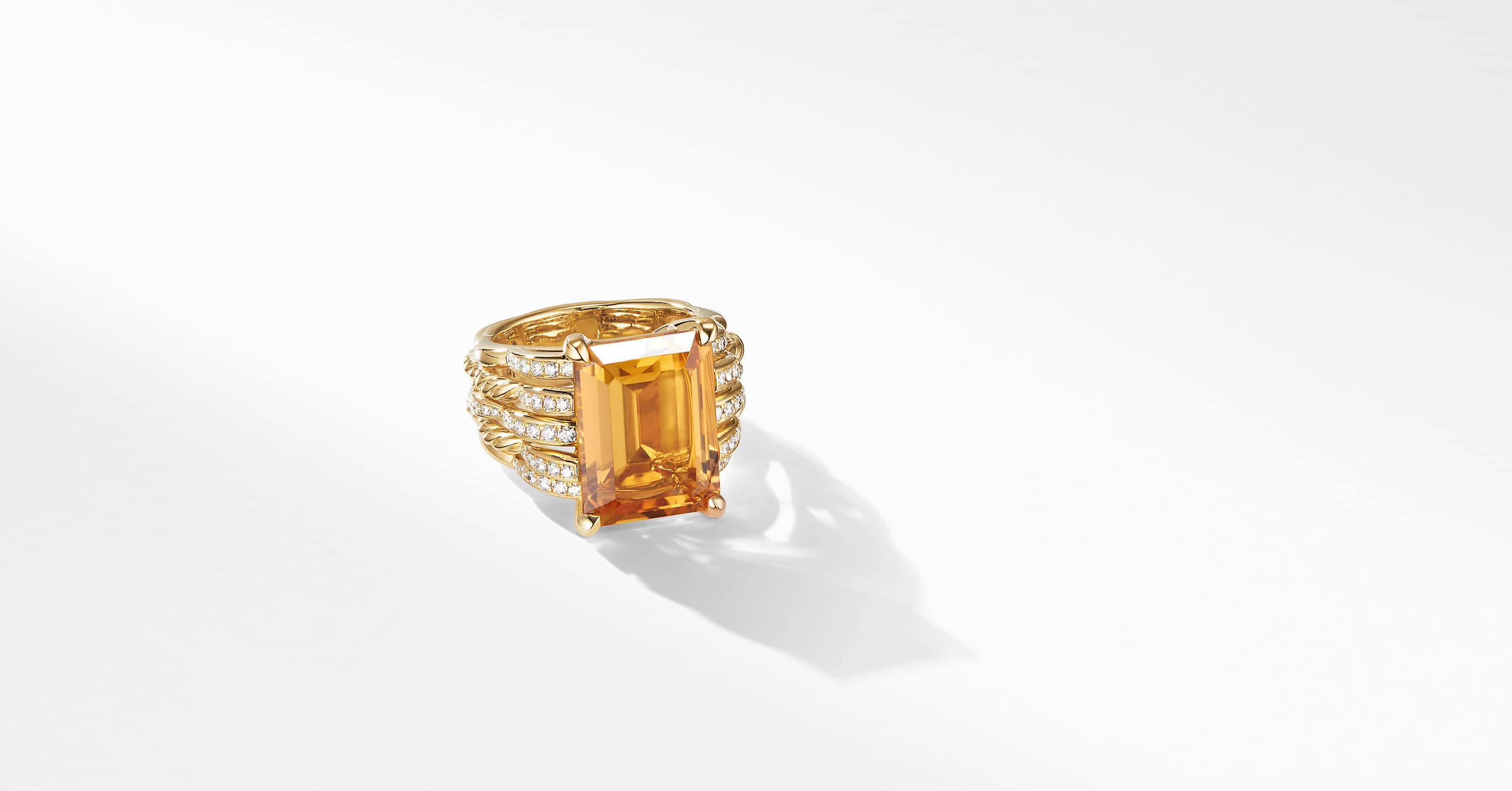 Tides Statement Ring in 18K Yellow Gold with Diamonds