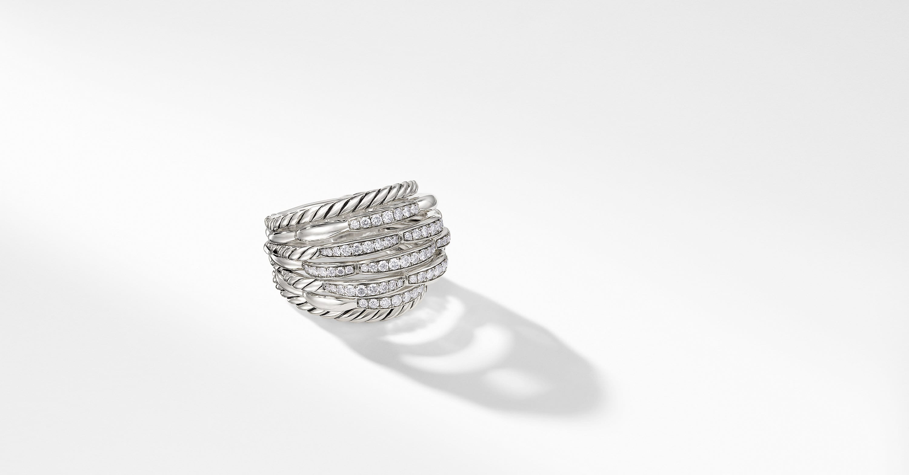 Tides Dome Ring with Diamonds, 20mm