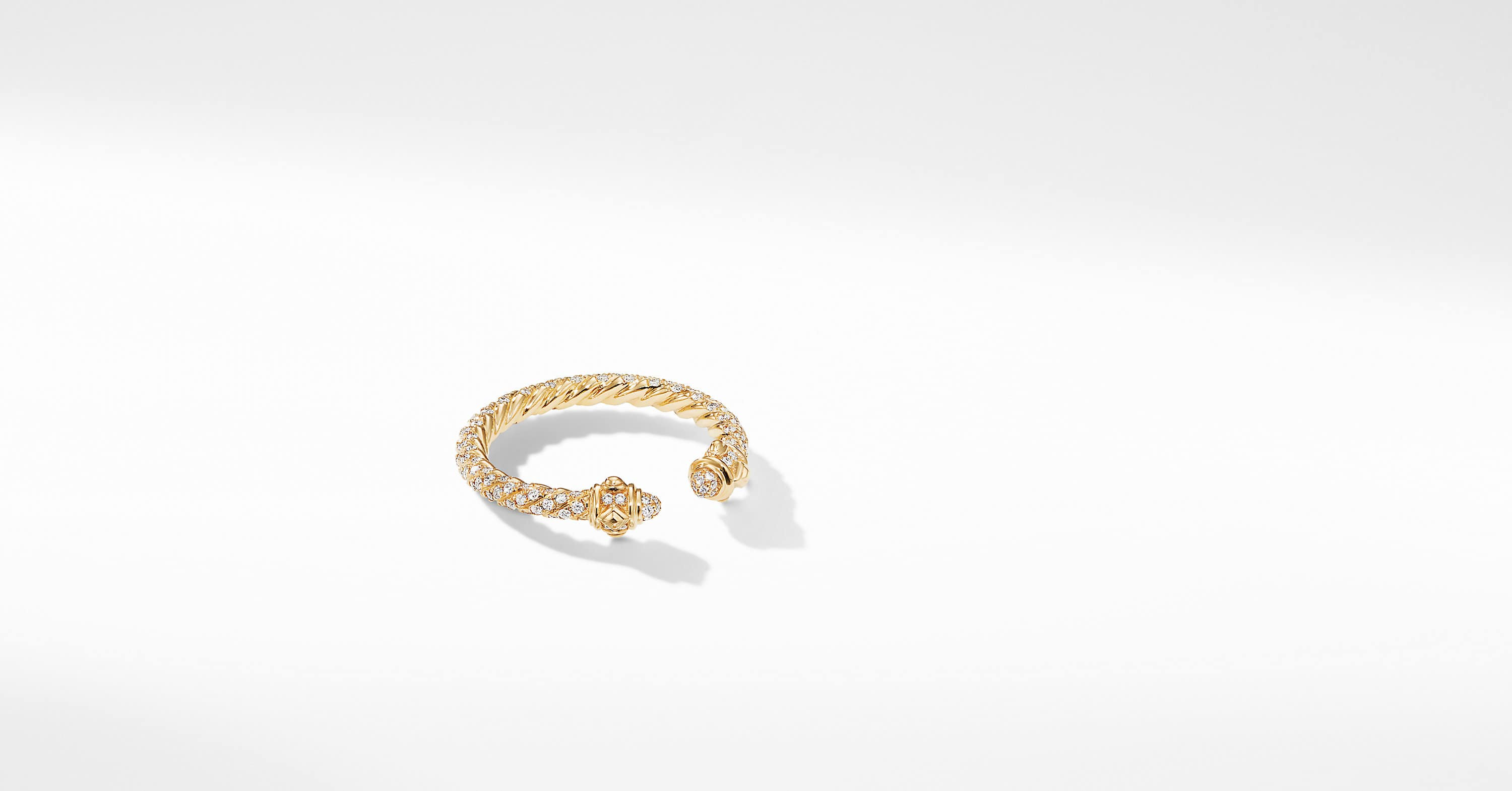Renaissance Full Pavé Ring in 18K Gold