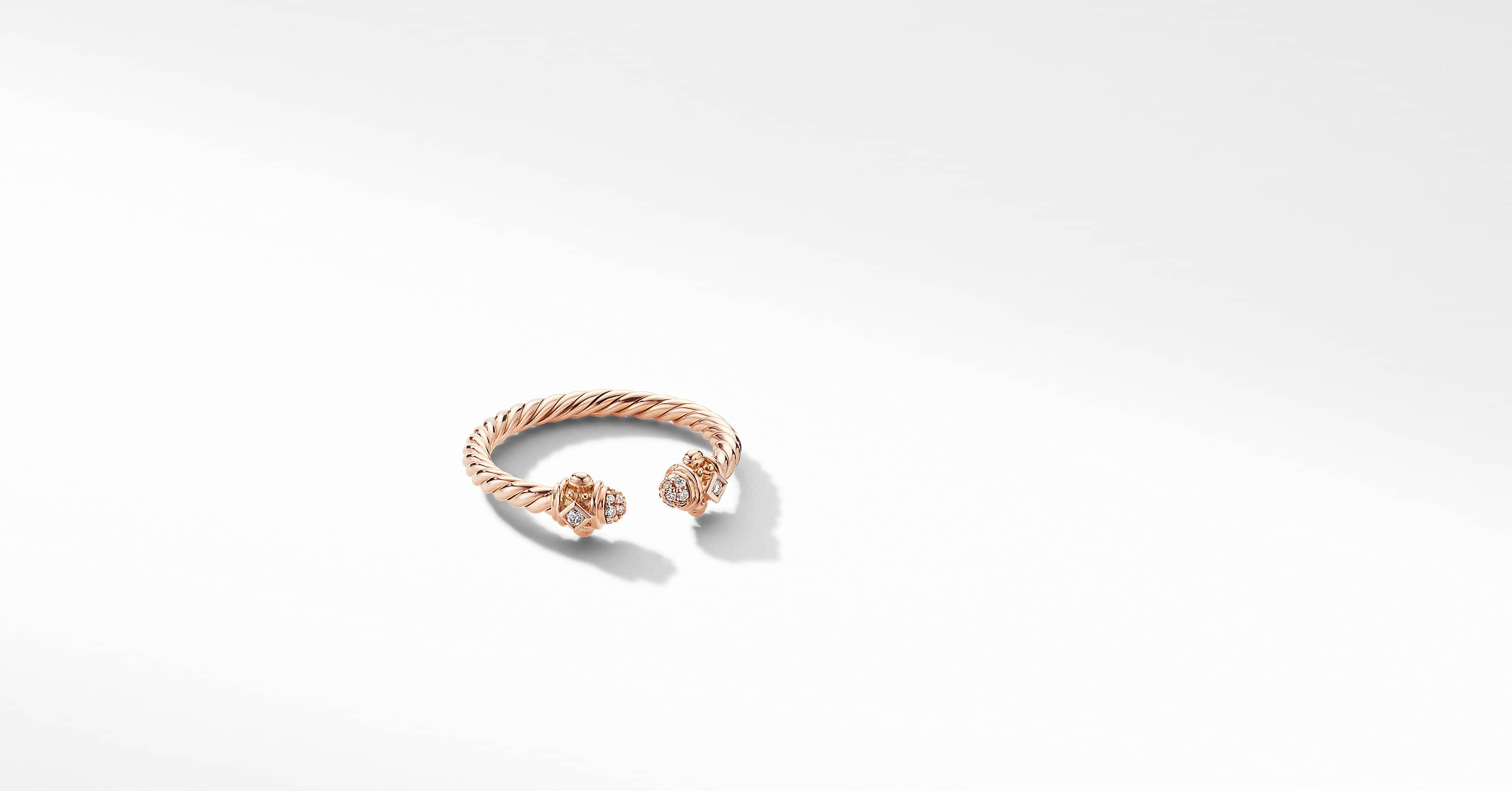 Renaissance Ring in 18K Rose Gold with Diamonds