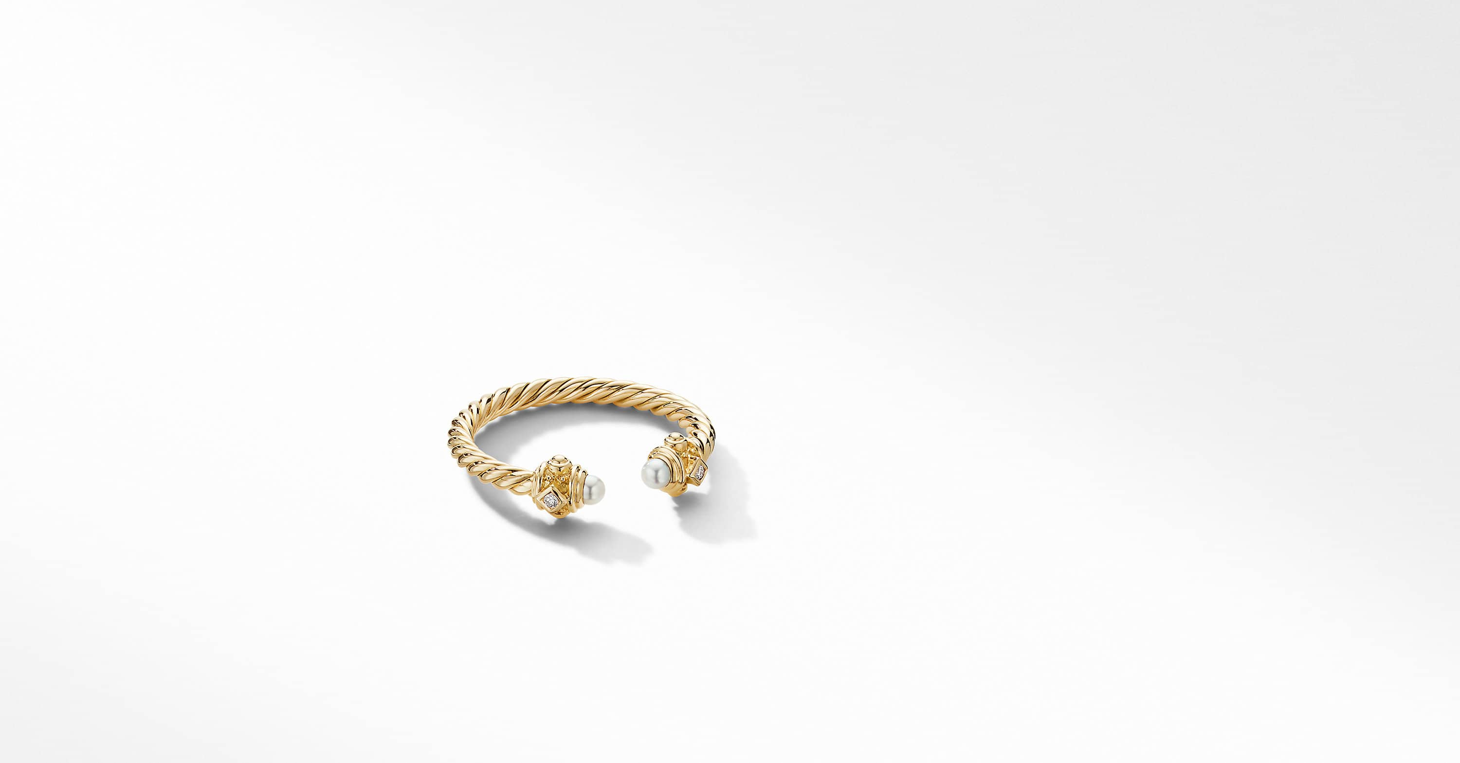 Renaissance Ring in 18K Yellow Gold with Diamonds