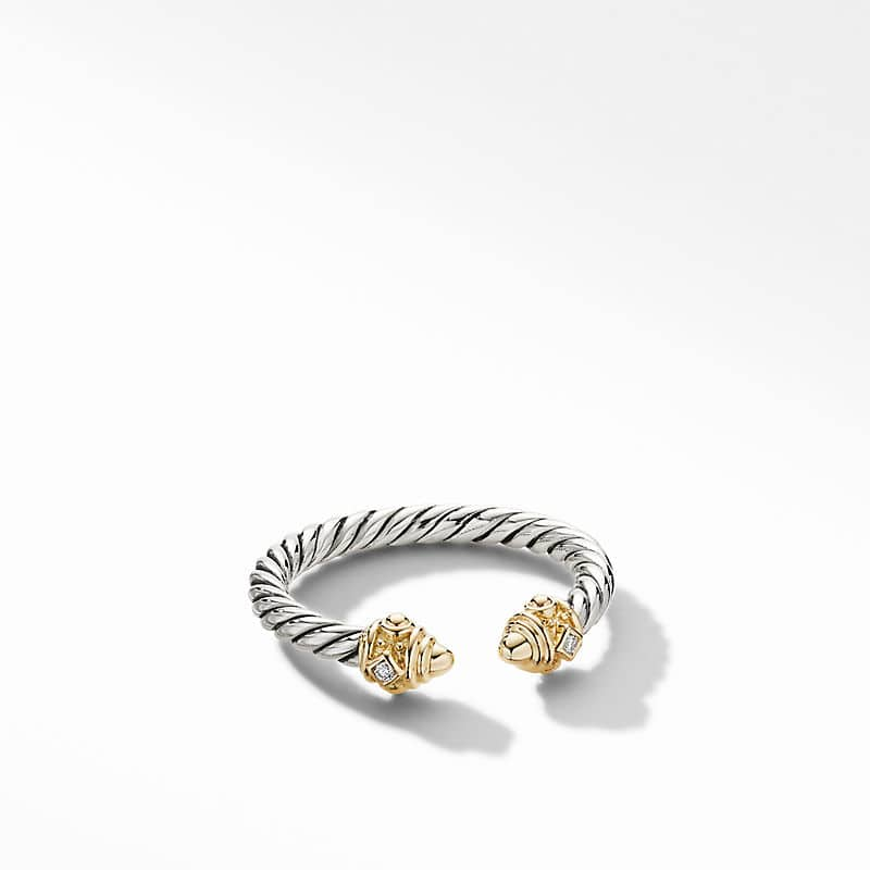 Renaissance Ring with 14K Yellow Gold with Diamonds