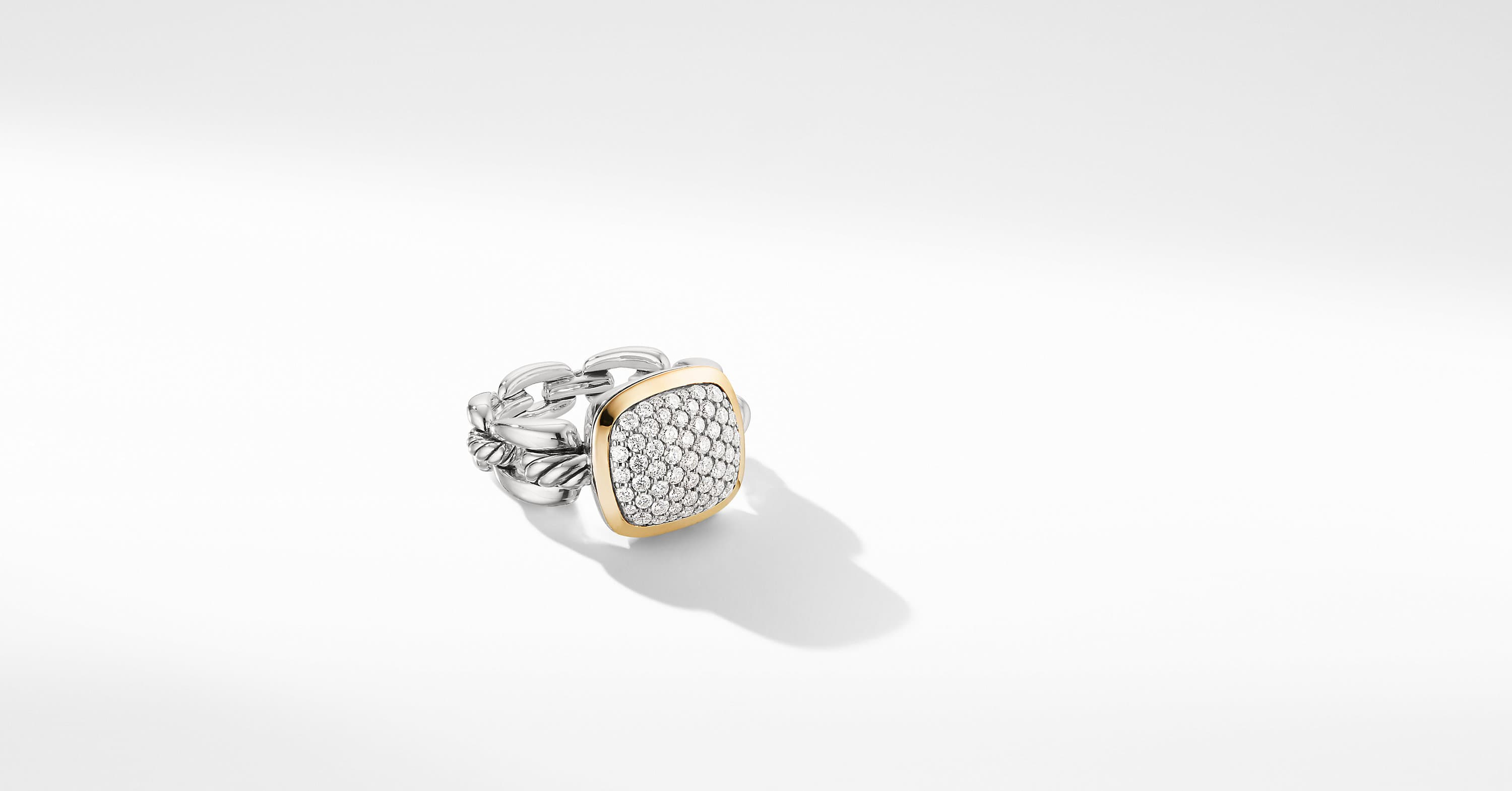 Wellesley Link Statement Ring with 18K Gold and Diamonds