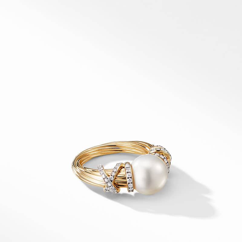 Helena Pearl Ring in 18K Yellow Gold with