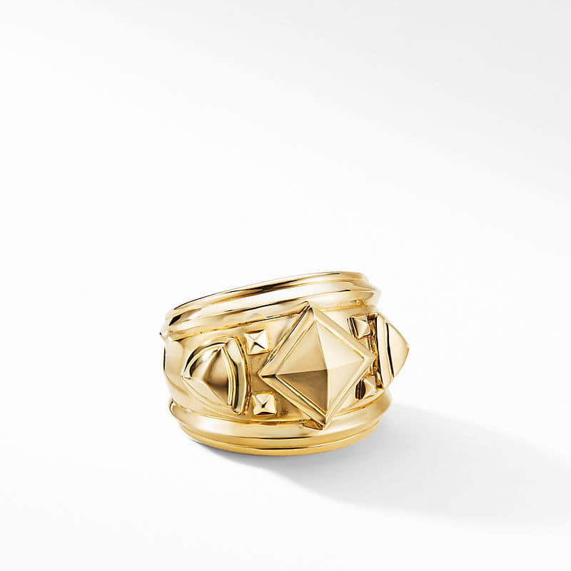 Bold Renaissance Wide Ring in 18K Yellow Gold