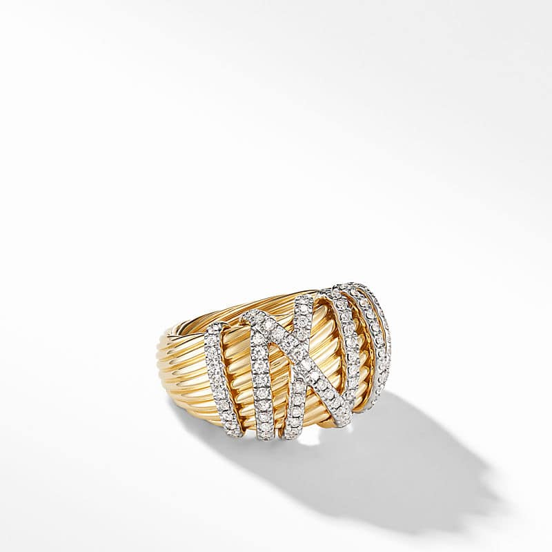Helena Dome Ring in 18K Yellow Gold with