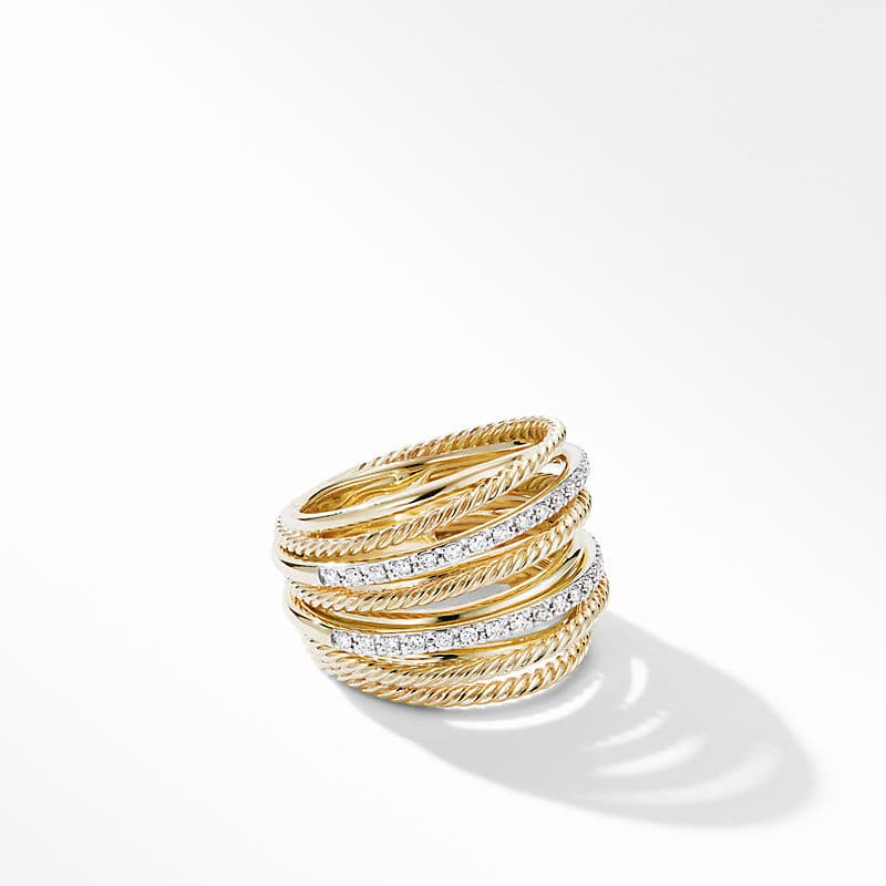 The Crossover Collection® Wide Ring in 18K Yellow