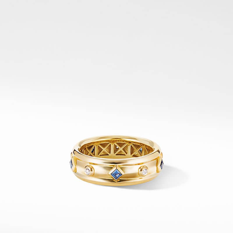 Modern Renaissance Ring in 18K Yellow Gold with Diamonds