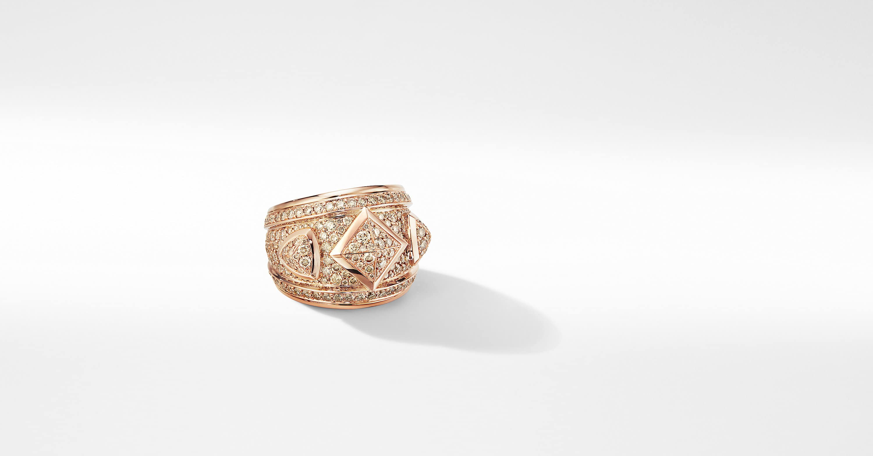 Renaissance Ring in 18K Rose Gold with Full Pavé