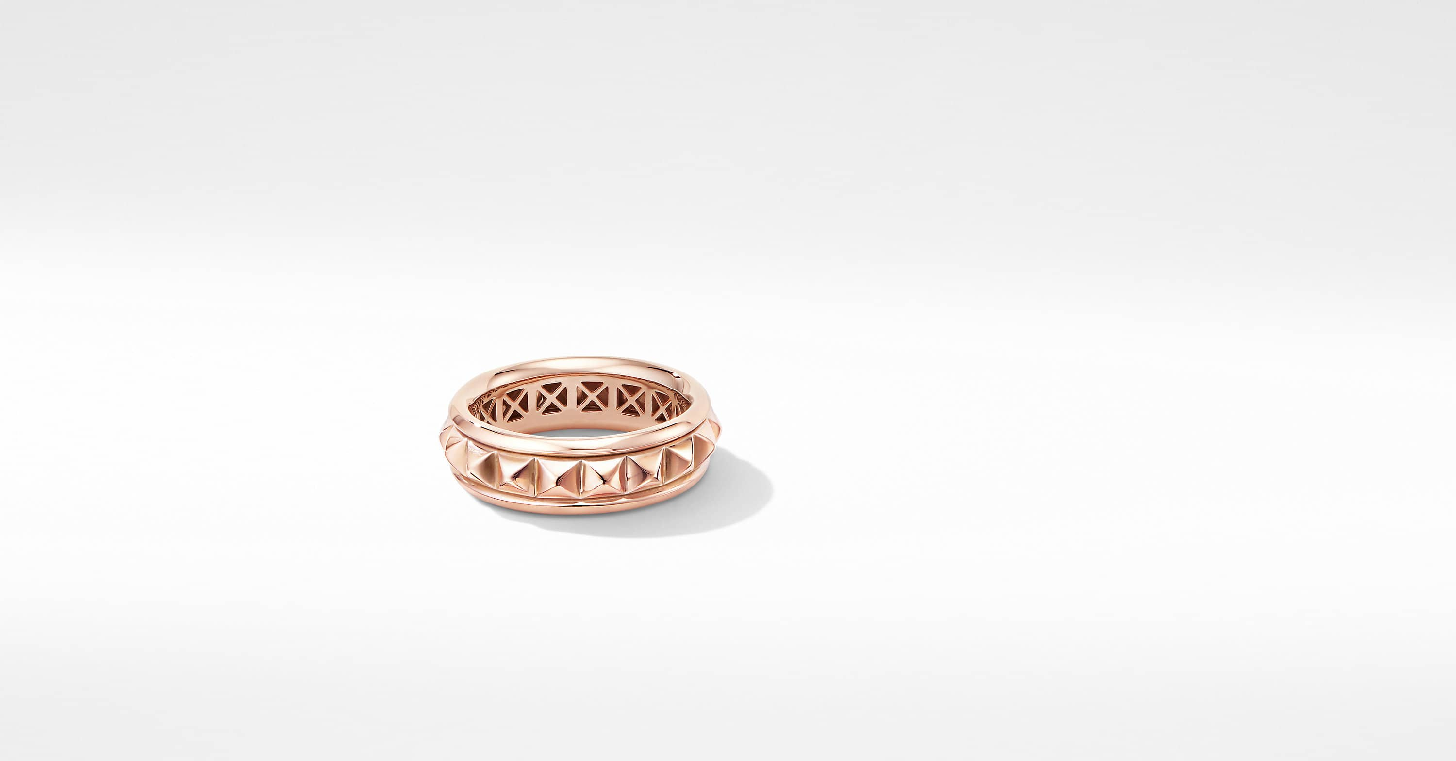Modern Renaissance Pyramid Ring in 18K Rose Gold