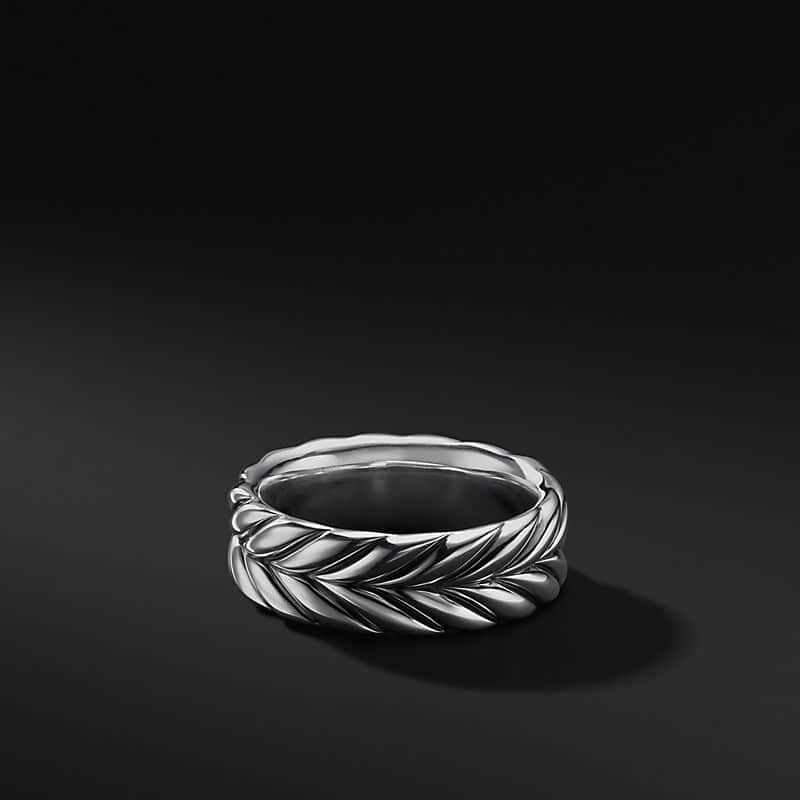 Chevron Band in Sterling Silver