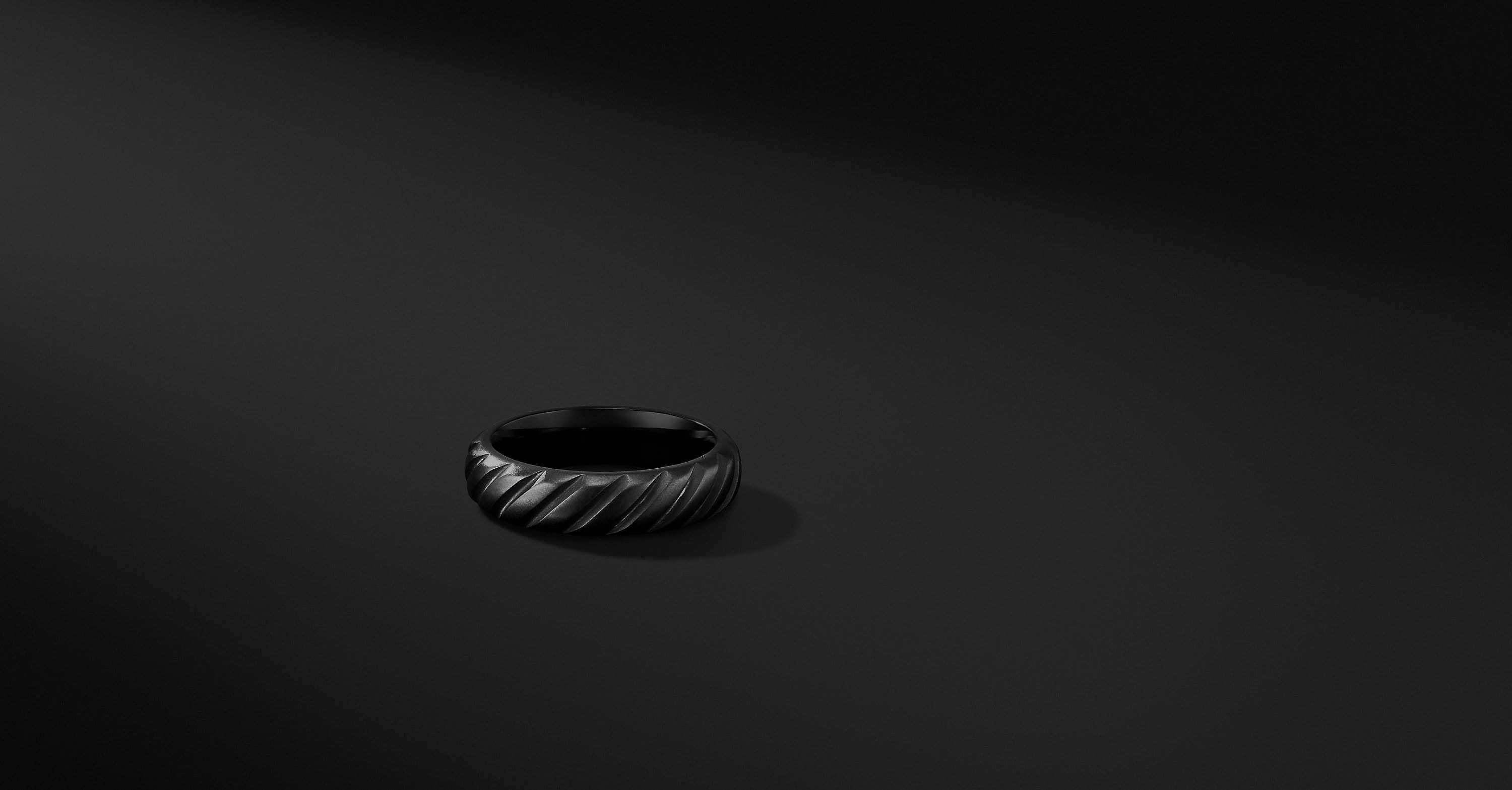 Cable Band in Black Titanium, 6mm