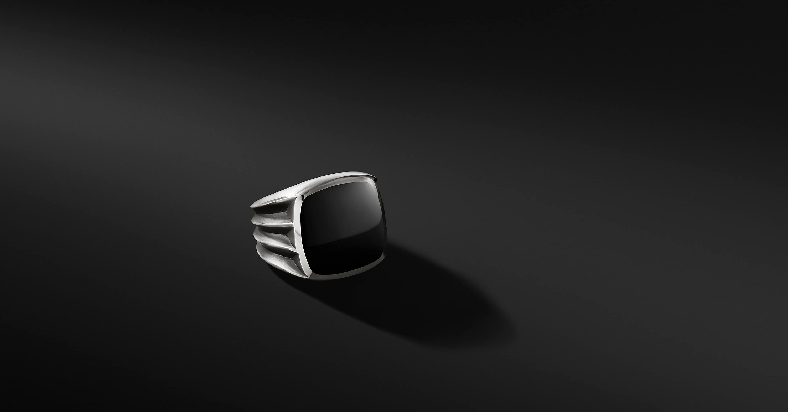 Knife-Edge Signet Ring