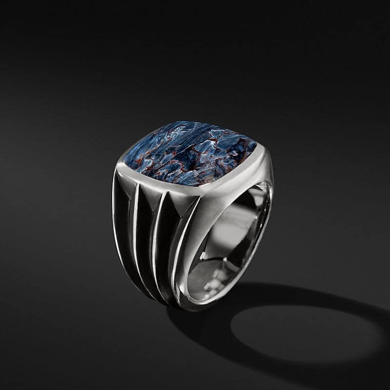 Knife-Edge Signet Ring with Pietersite