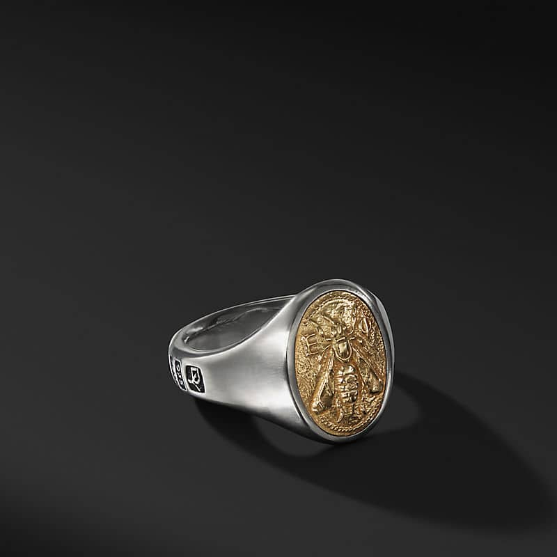 Petrvs Bee Signet Ring with 18K Gold