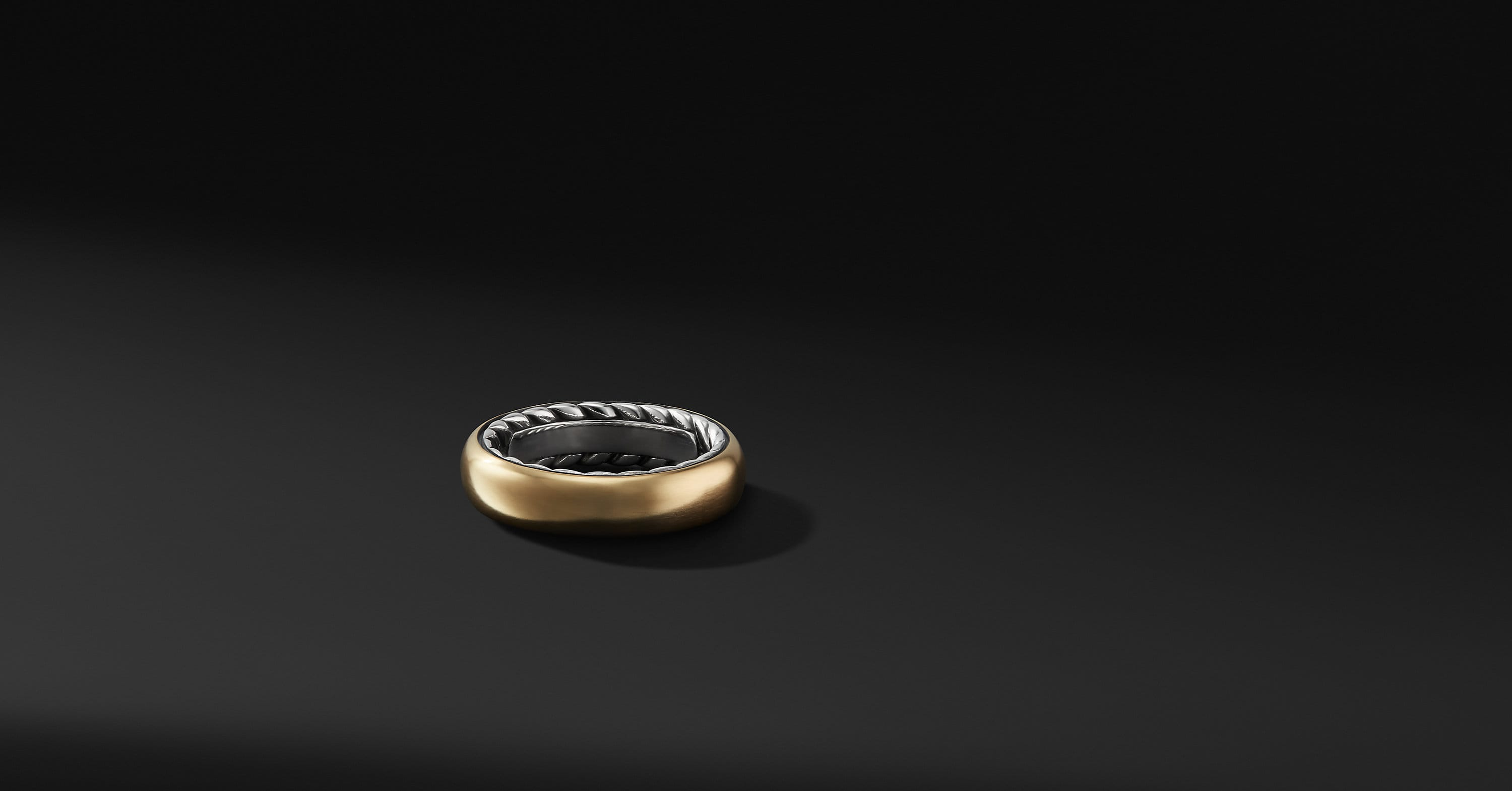 Streamline Band in Sterling Silver with 18K Gold, 6mm