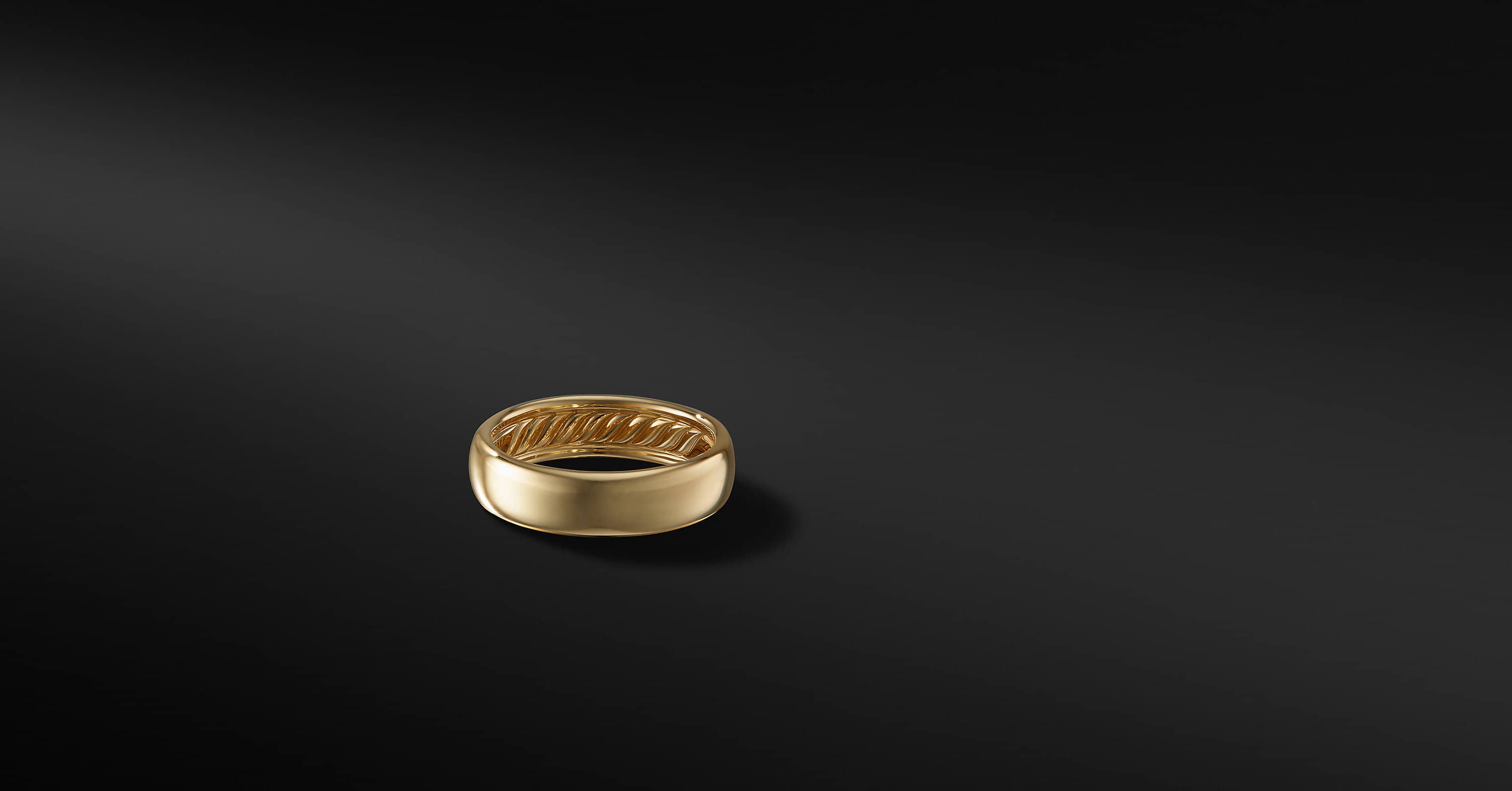 DY Classic Band in 18K Gold, 6mm