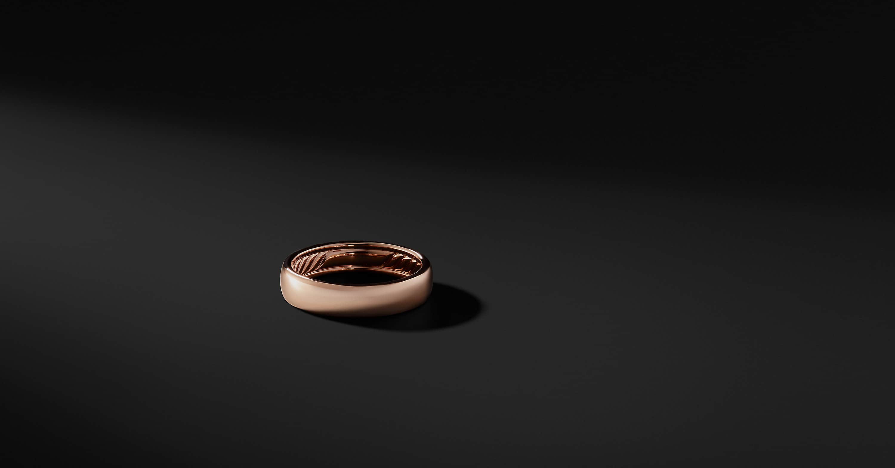 DY Classic Band in 18K Rose Gold, 6mm