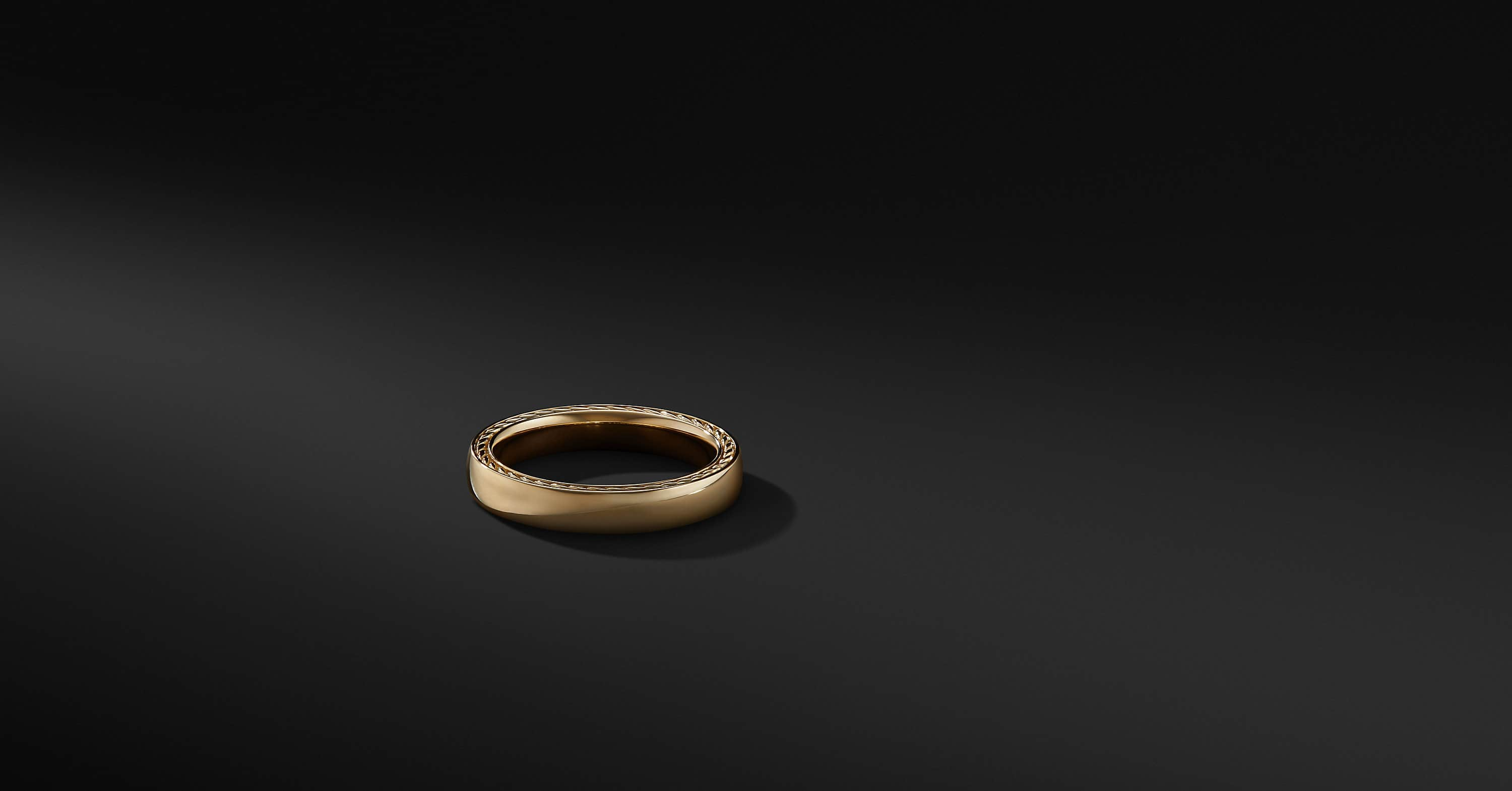 Streamline Band in 18K Gold, 4mm