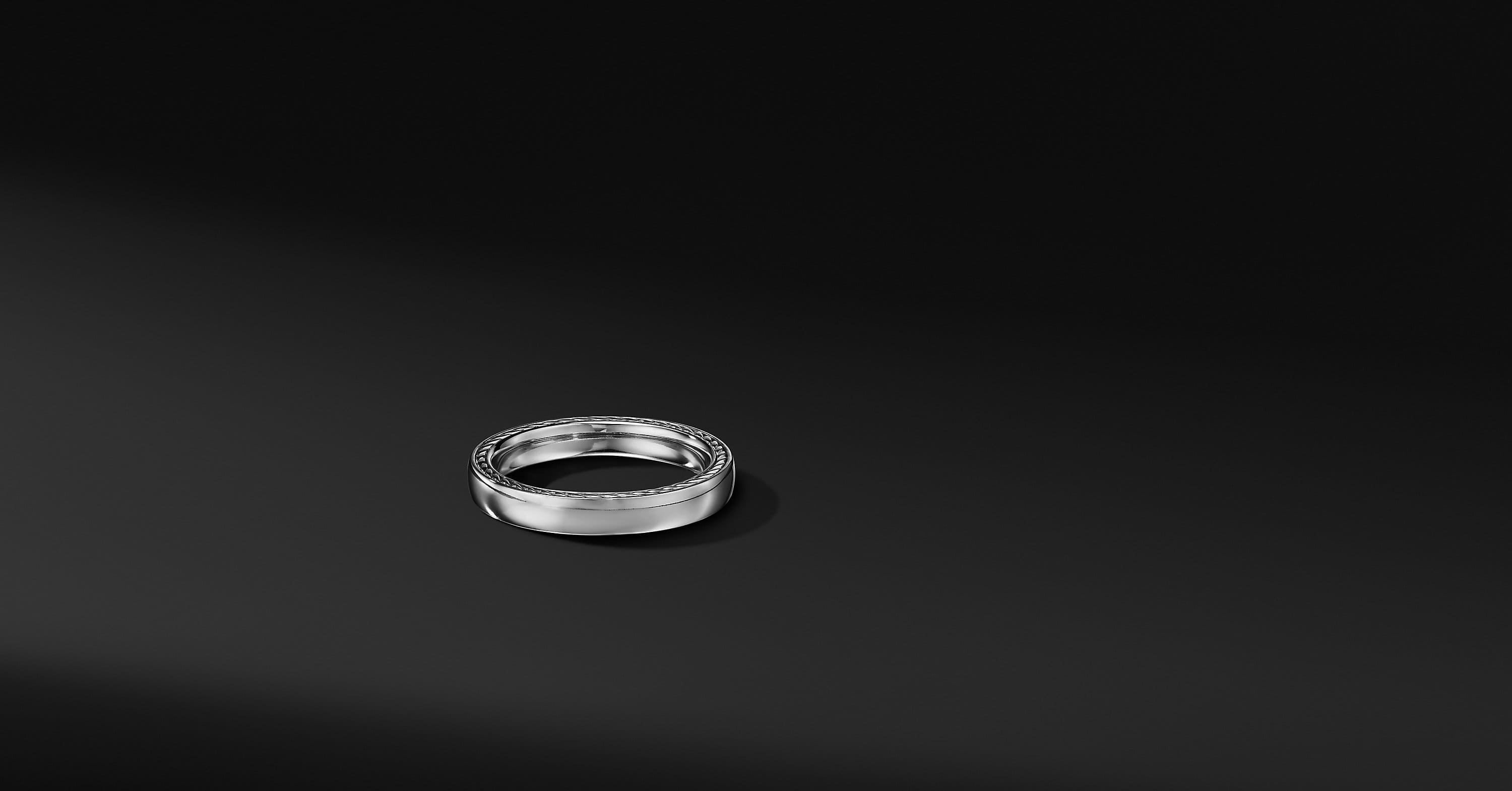 Streamline Band in 18K White Gold, 4mm