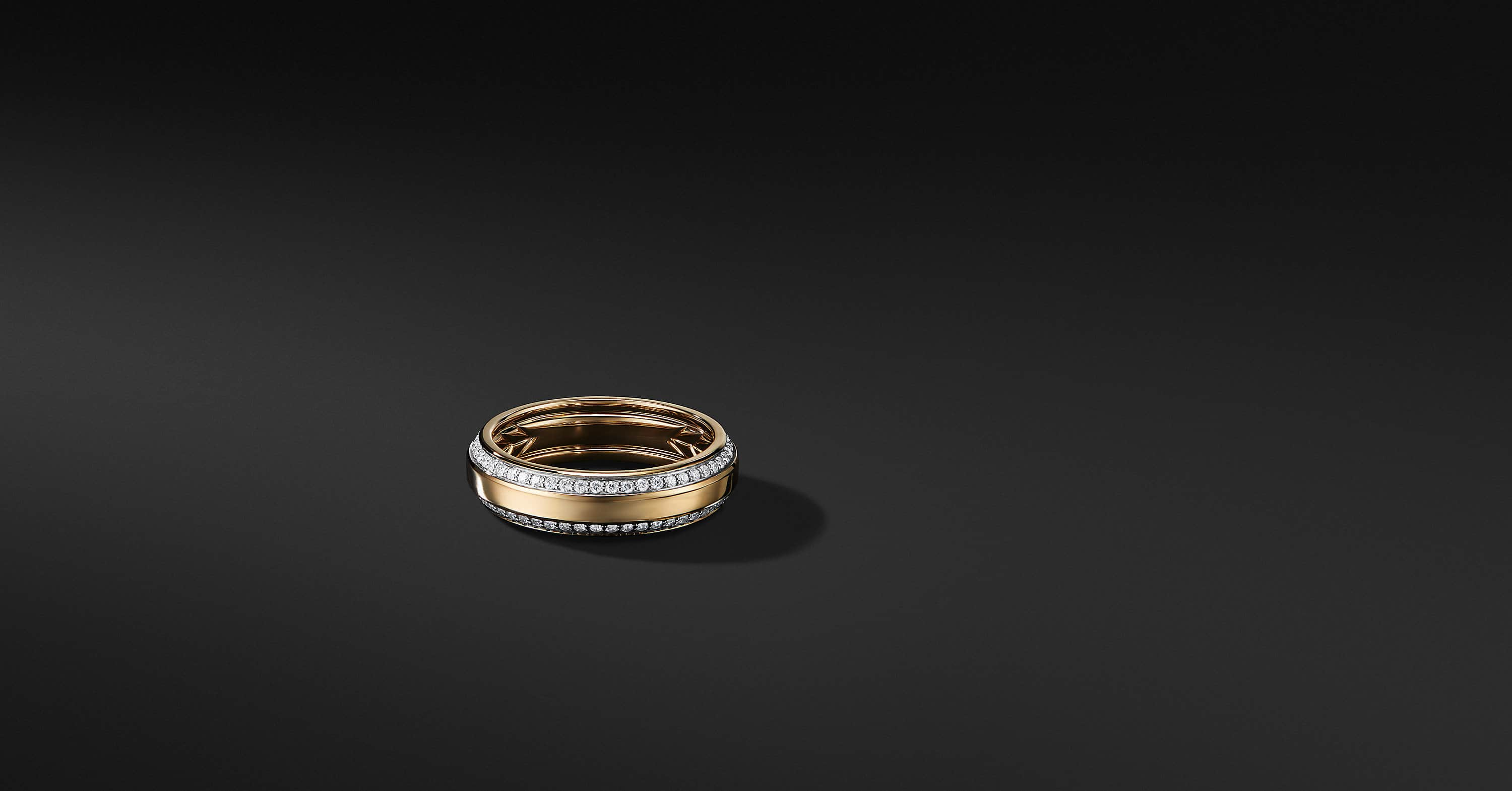 Beveled Band in 18K Gold, 6mm