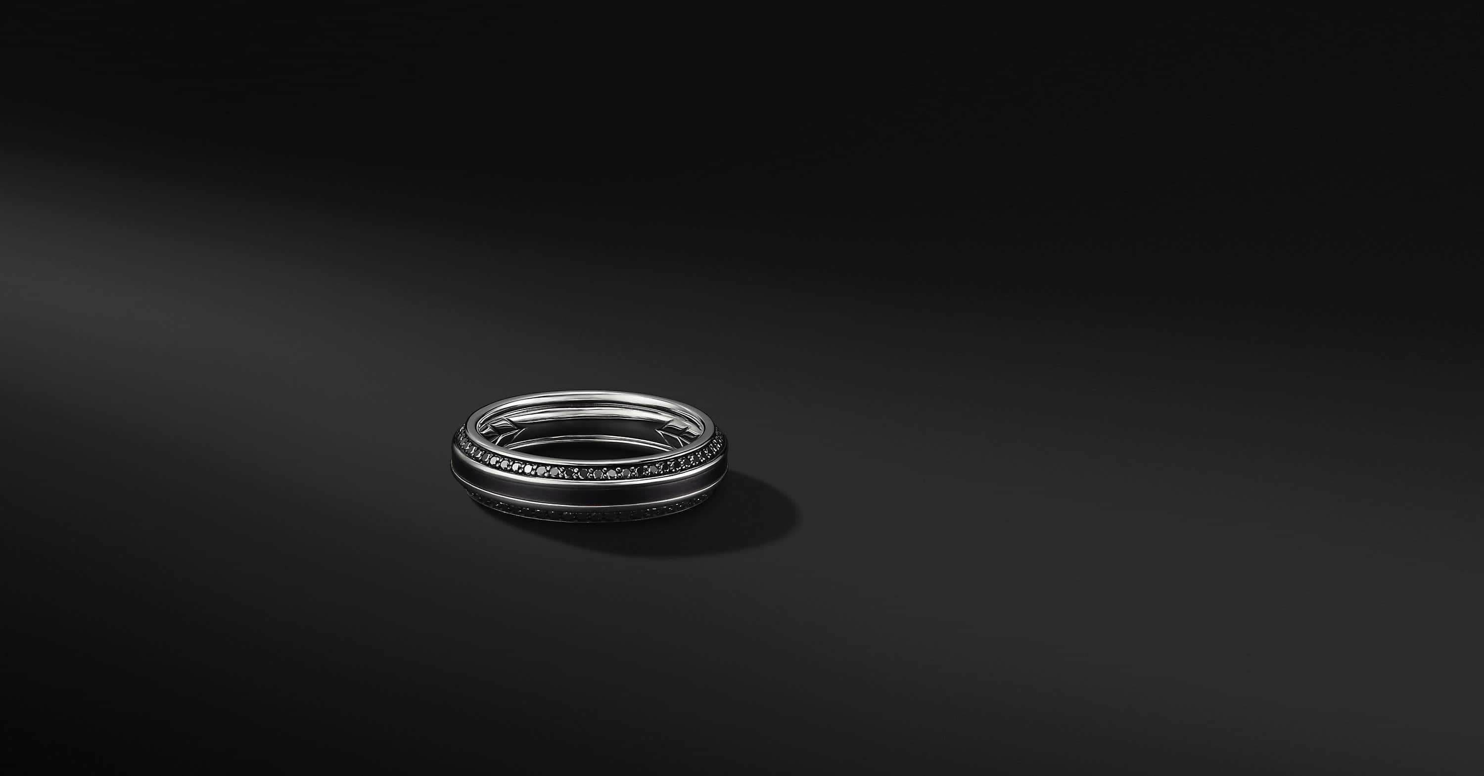 Beveled Band in Black Titanium, 6.5mm