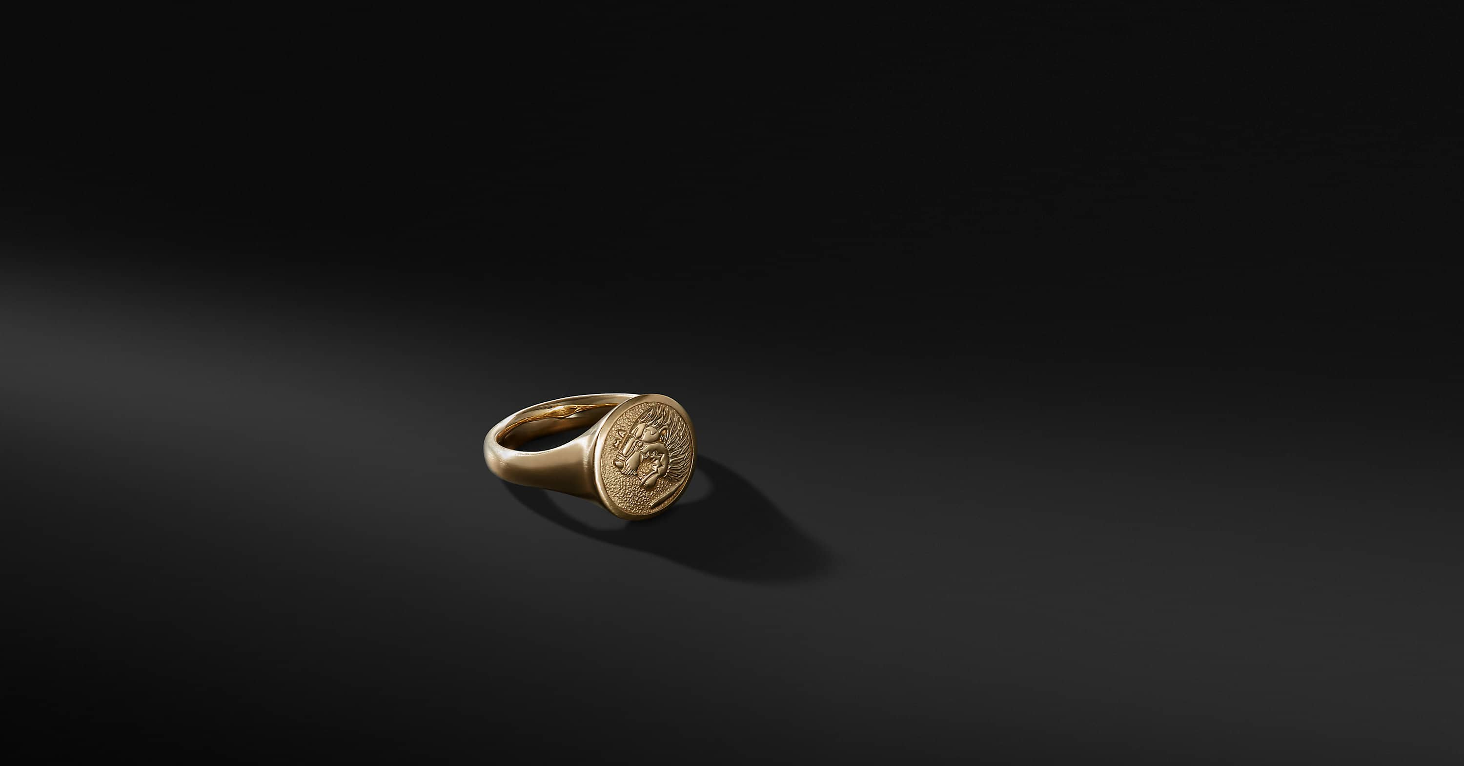 Petrvs Lion Signet Pinky Ring in 18K Gold