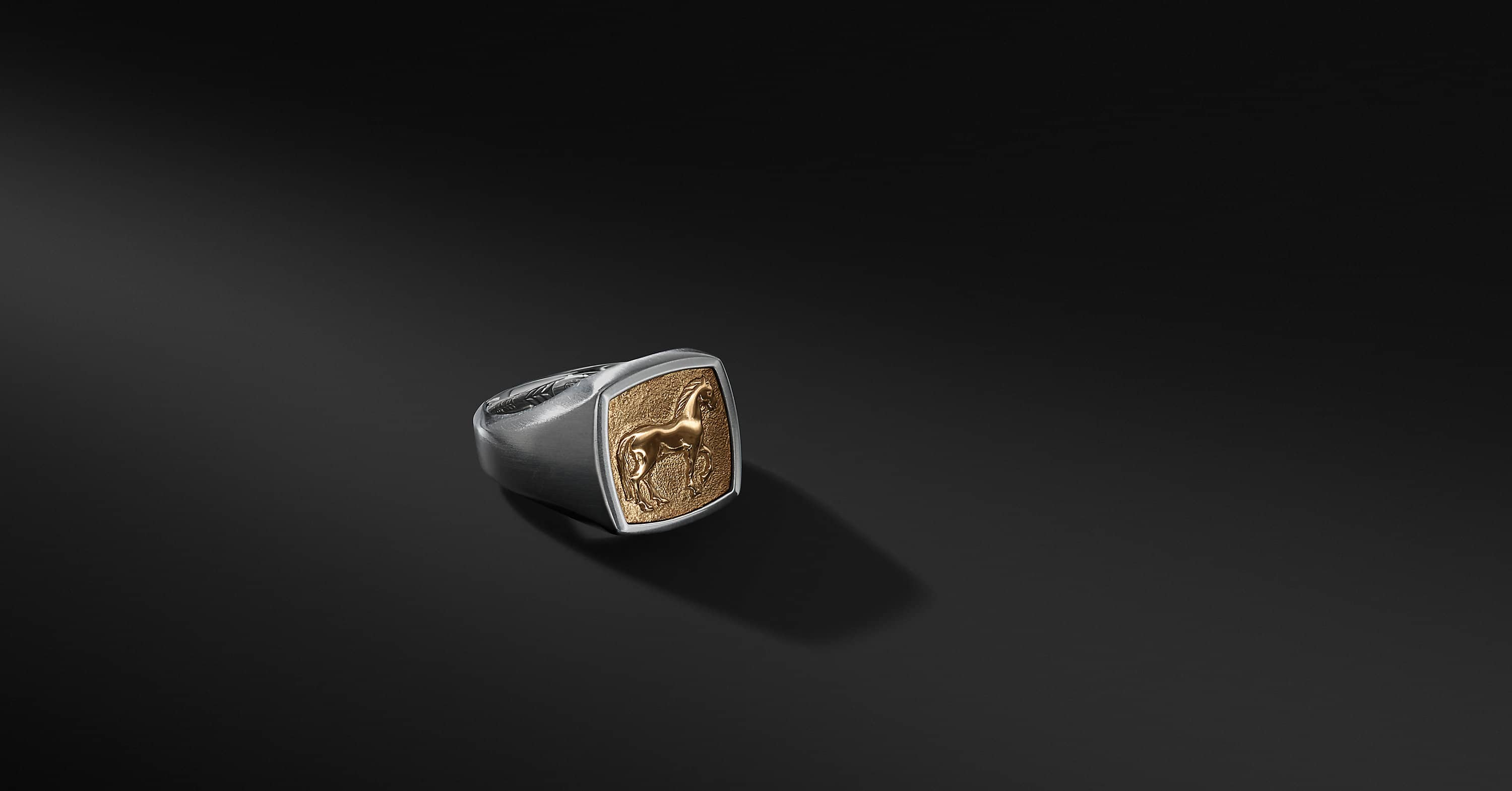 Petrvs Horse Pinky Ring with 18K Gold