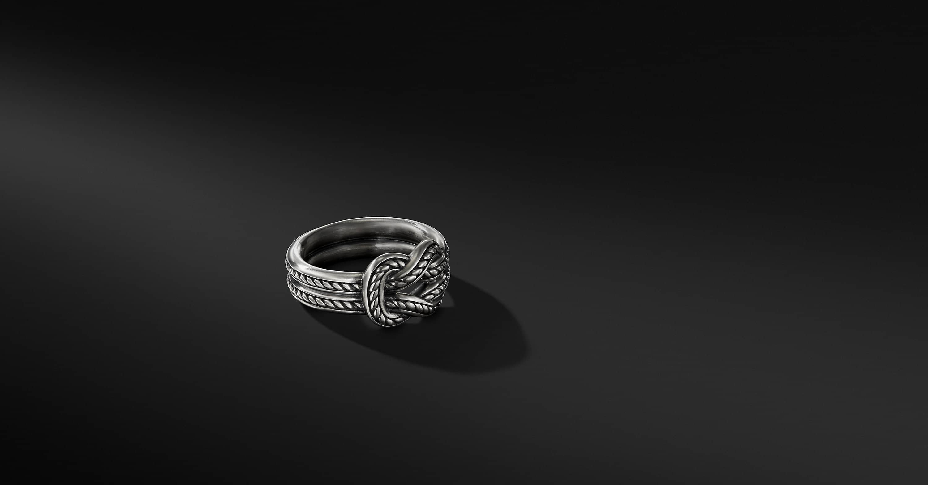 Maritime Reef Knot Band in Sterling Silver, 7mm