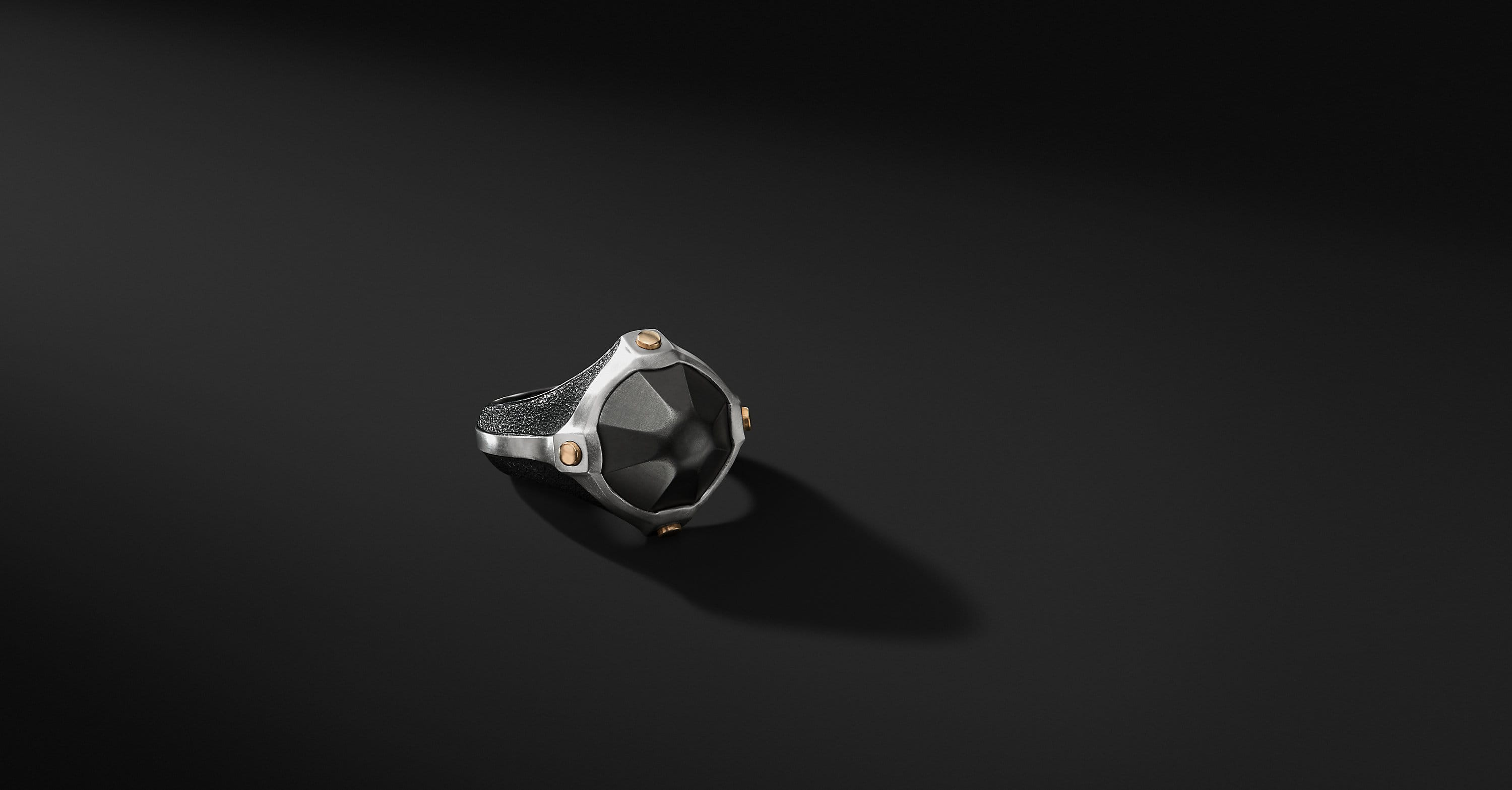 Anvil Signet Ring with Bronze