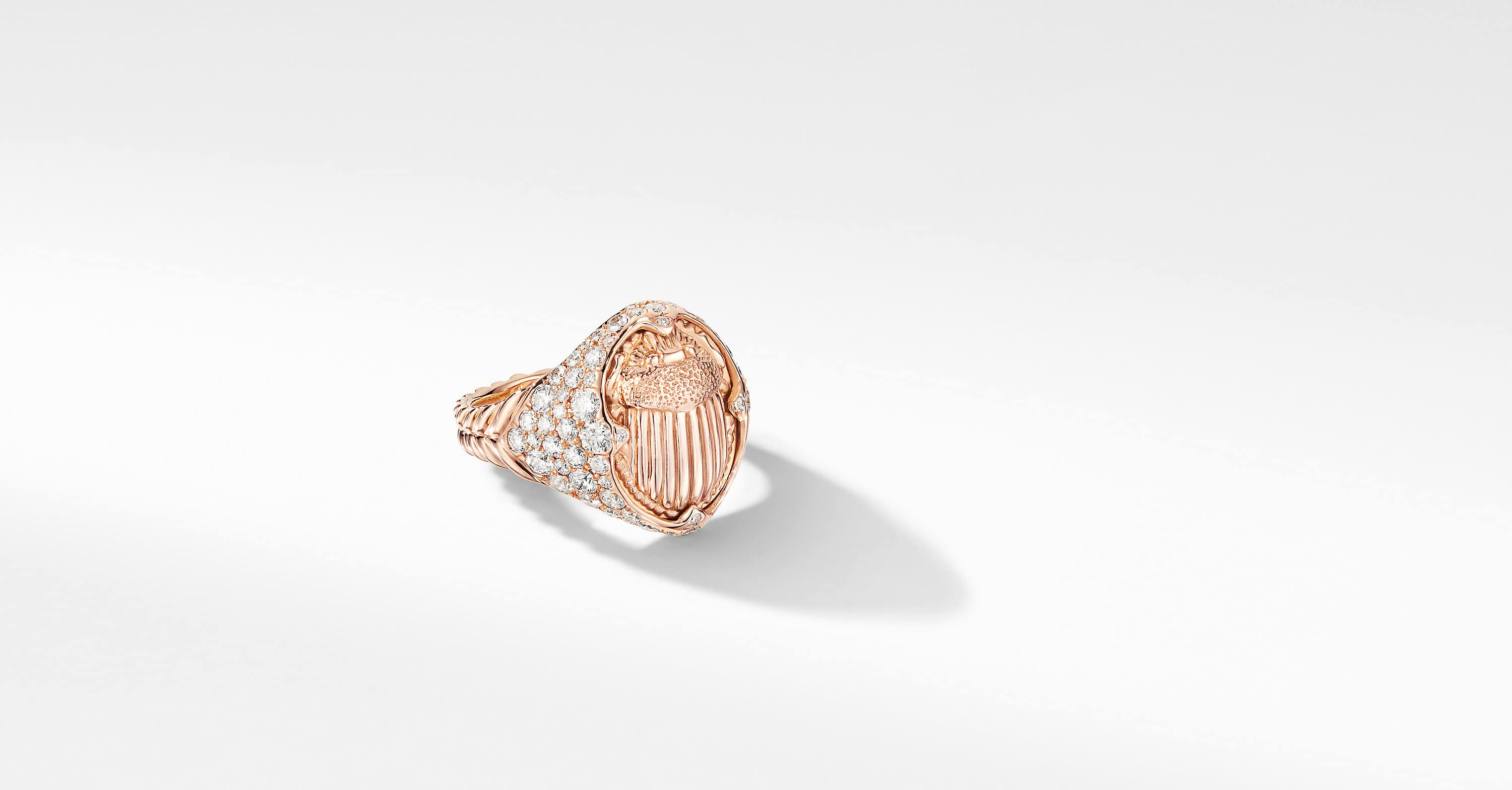 Petrvs Pinky Ring in 18K Rose Gold with Pavé