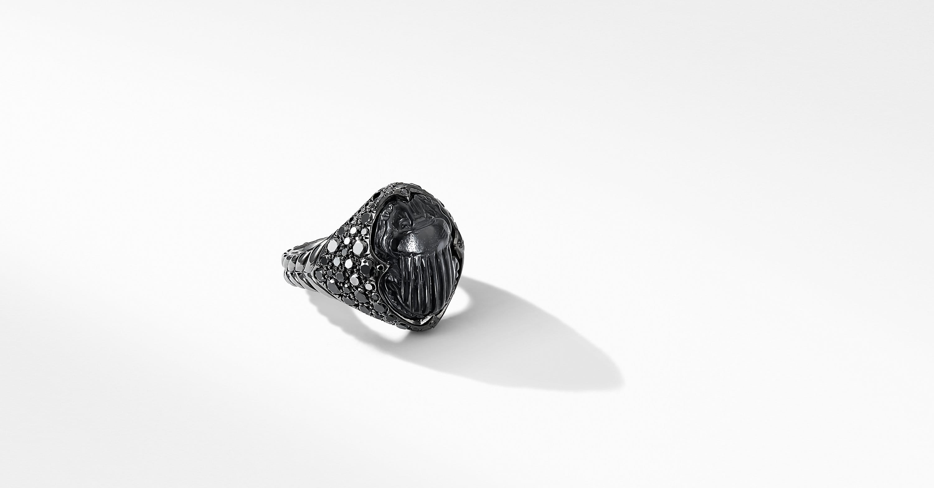 Petrvs Pinky Ring in 18K White Gold with Pavé