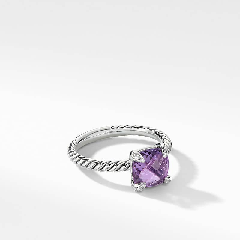 Chatelaine Ring with Diamonds, 8mm
