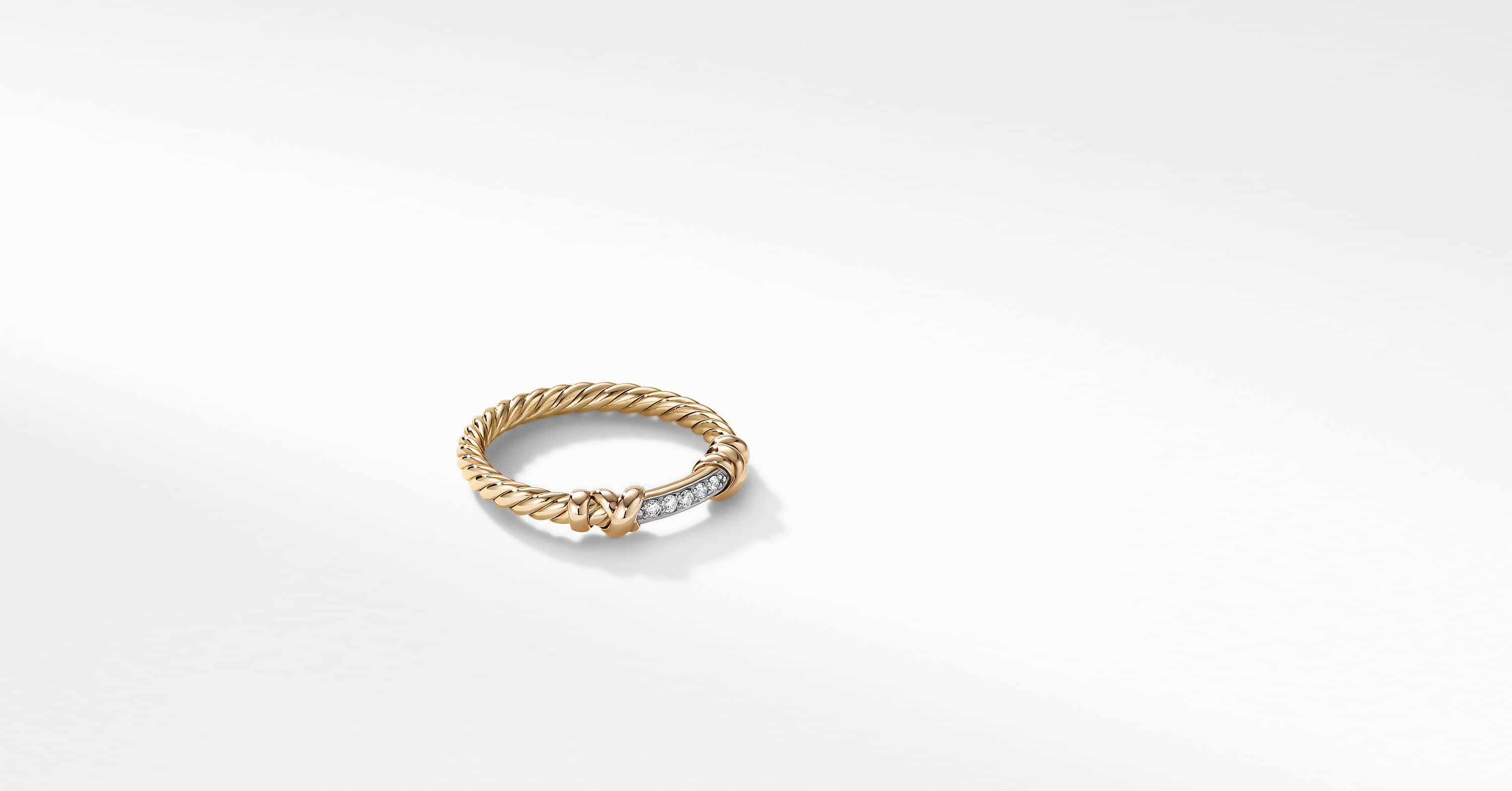Petite Helena Wrap Ring in 18K Yellow Gold with Diamonds