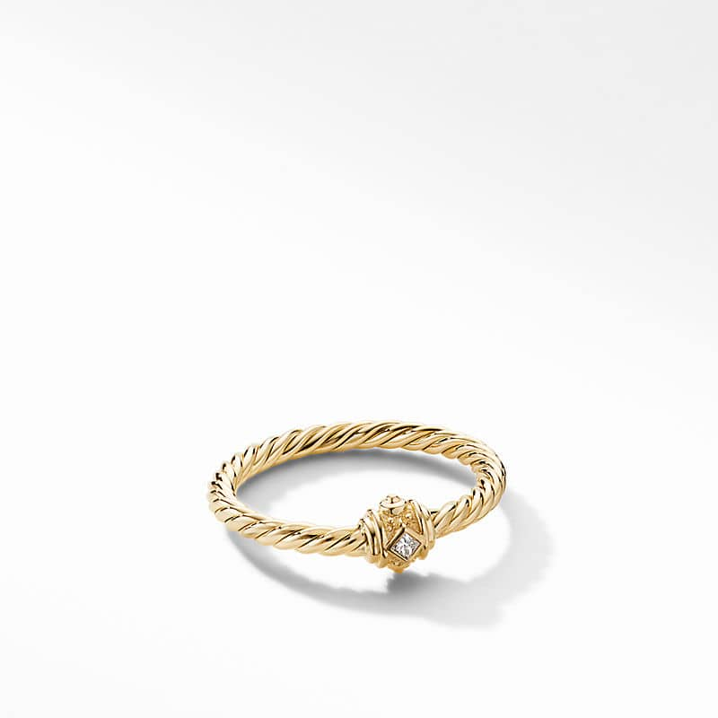 Renaissance Station Ring in 18K Yellow Gold with