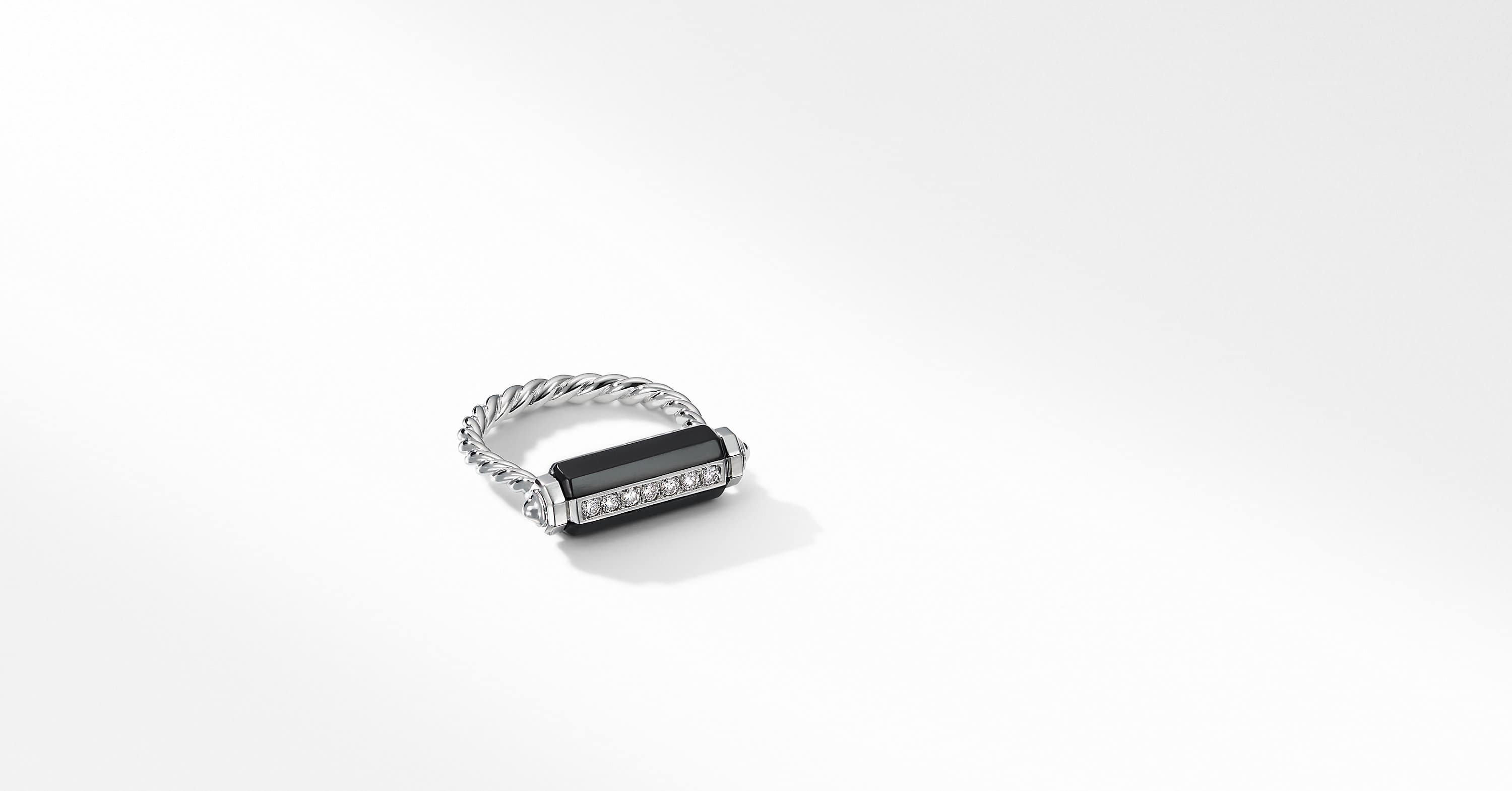 Lexington Barrel Ring with Diamonds