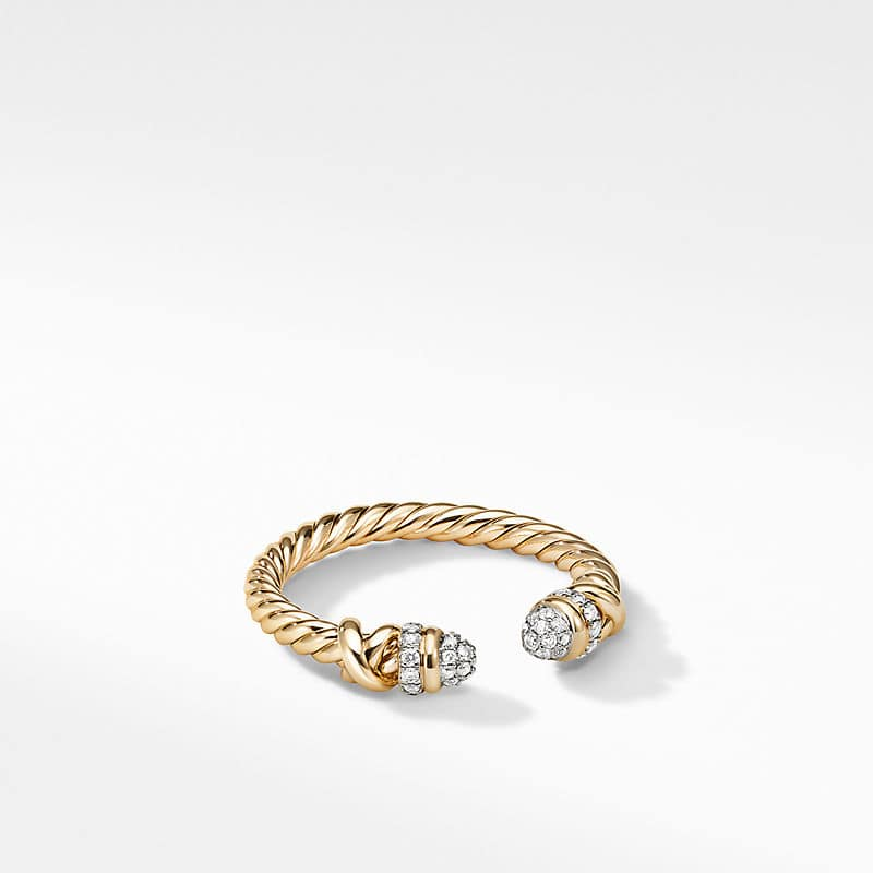 Petite Helena Ring in 18K Yellow Gold with Diamonds