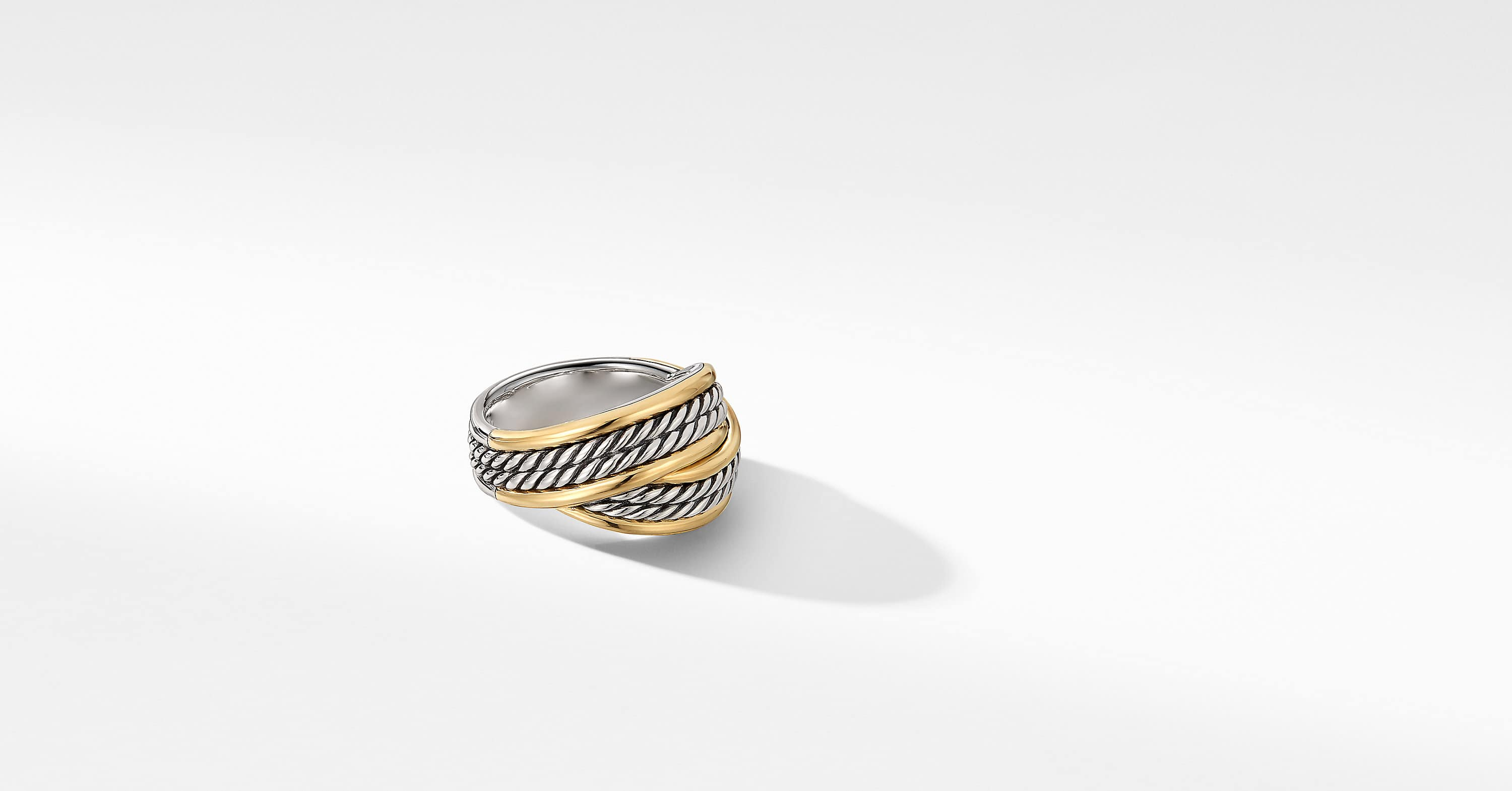 DY Origami Ring with 18K Yellow Gold, 13mm