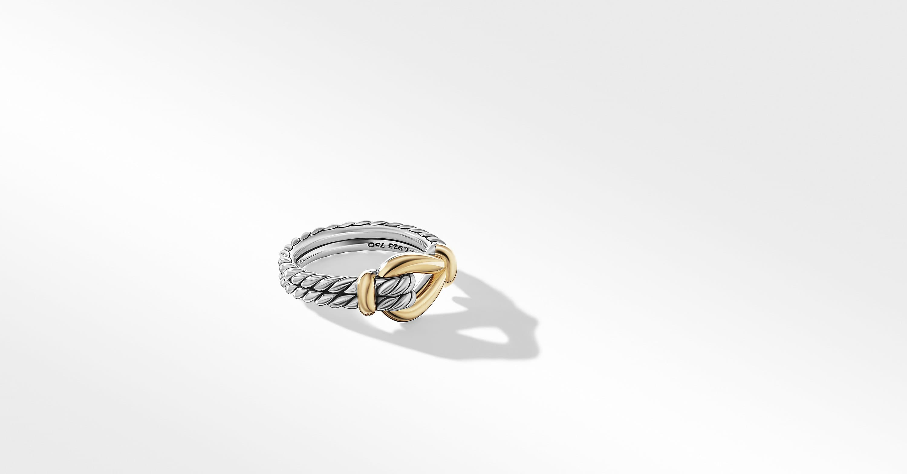 Thoroughbred Loop Ring with 18K Yellow Gold, 9mm