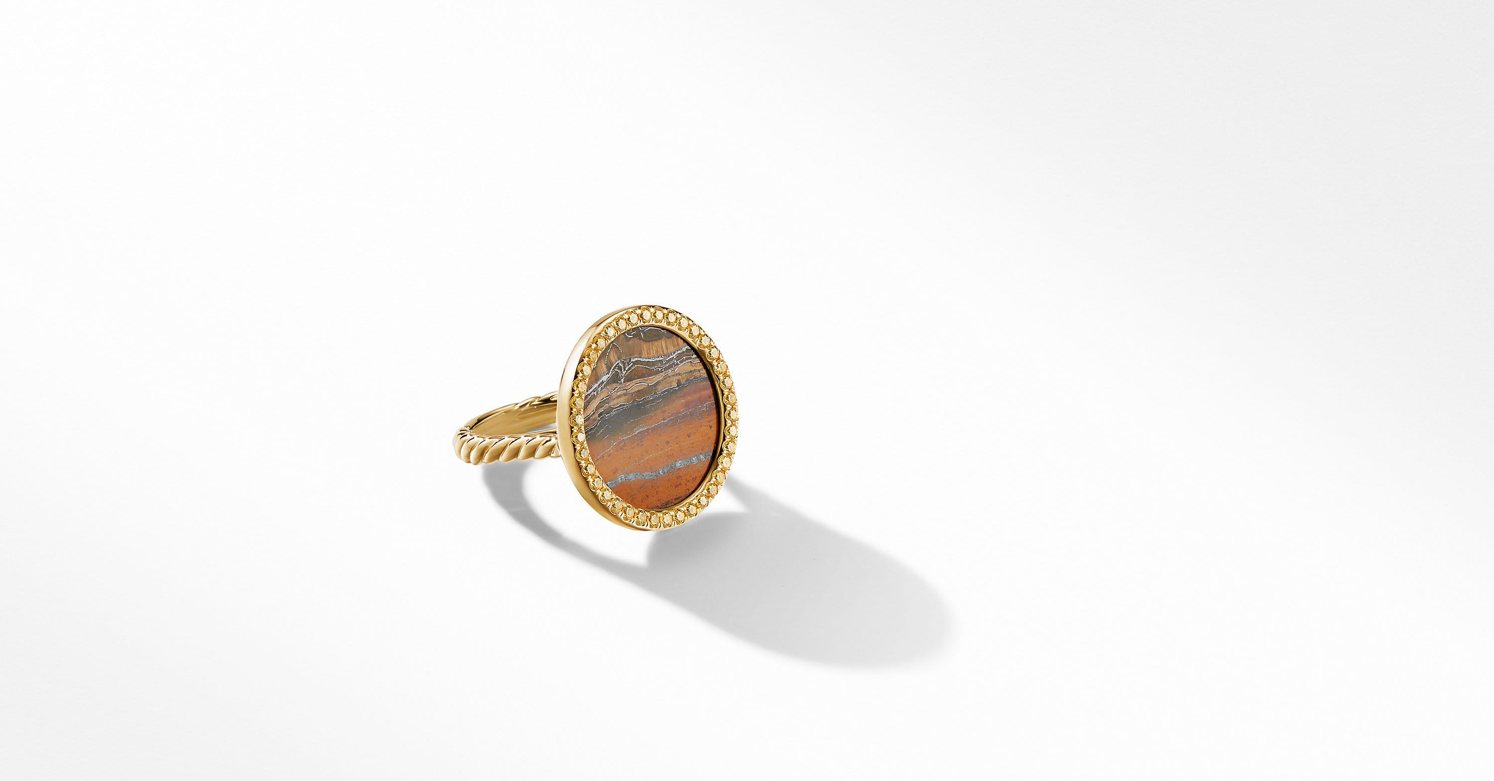 DY Elements Ring in 18K Yellow Gold, 21mm