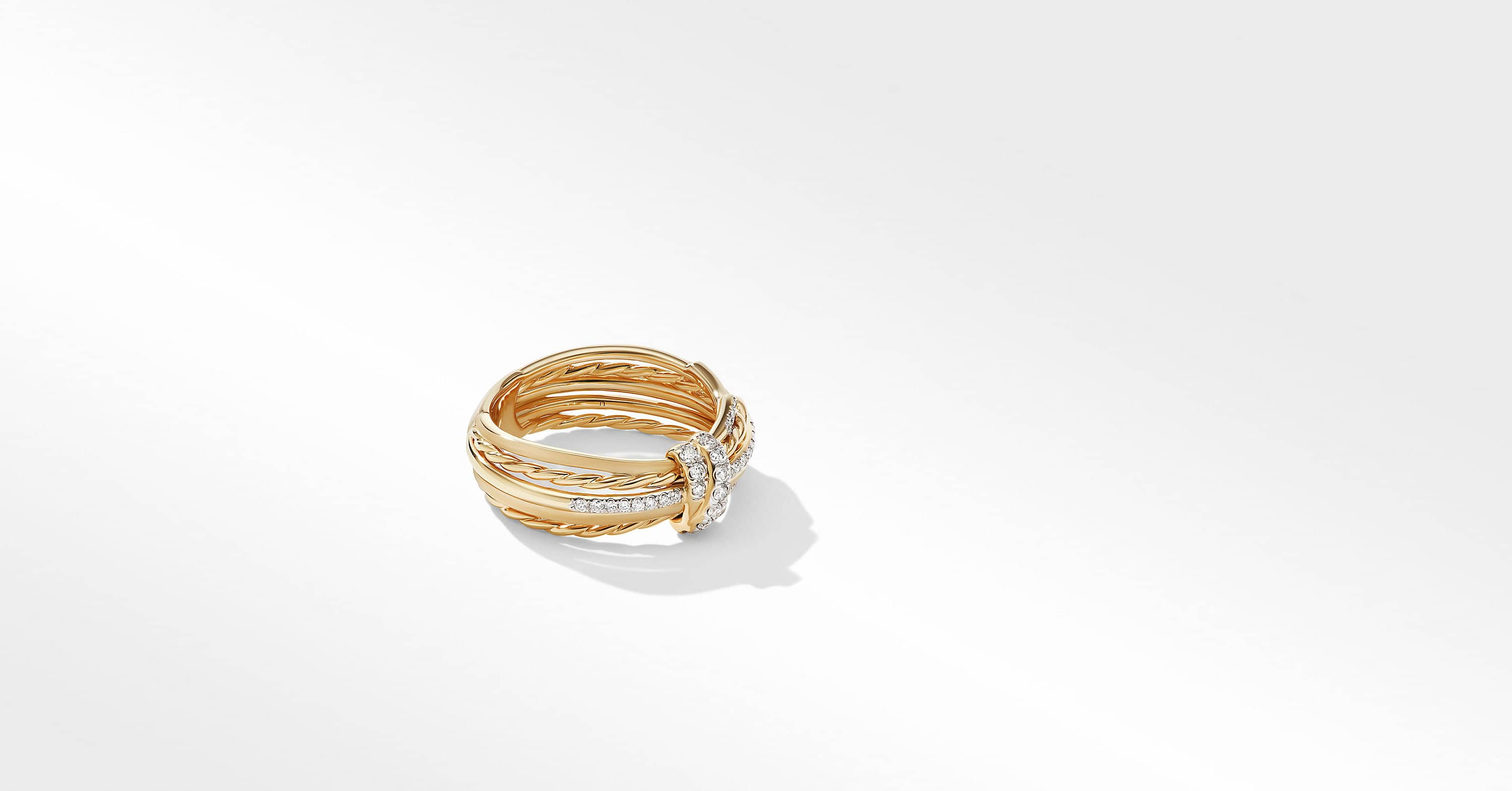 Angelika Ring in 18K Yellow Gold with Diamonds, 7.8mm