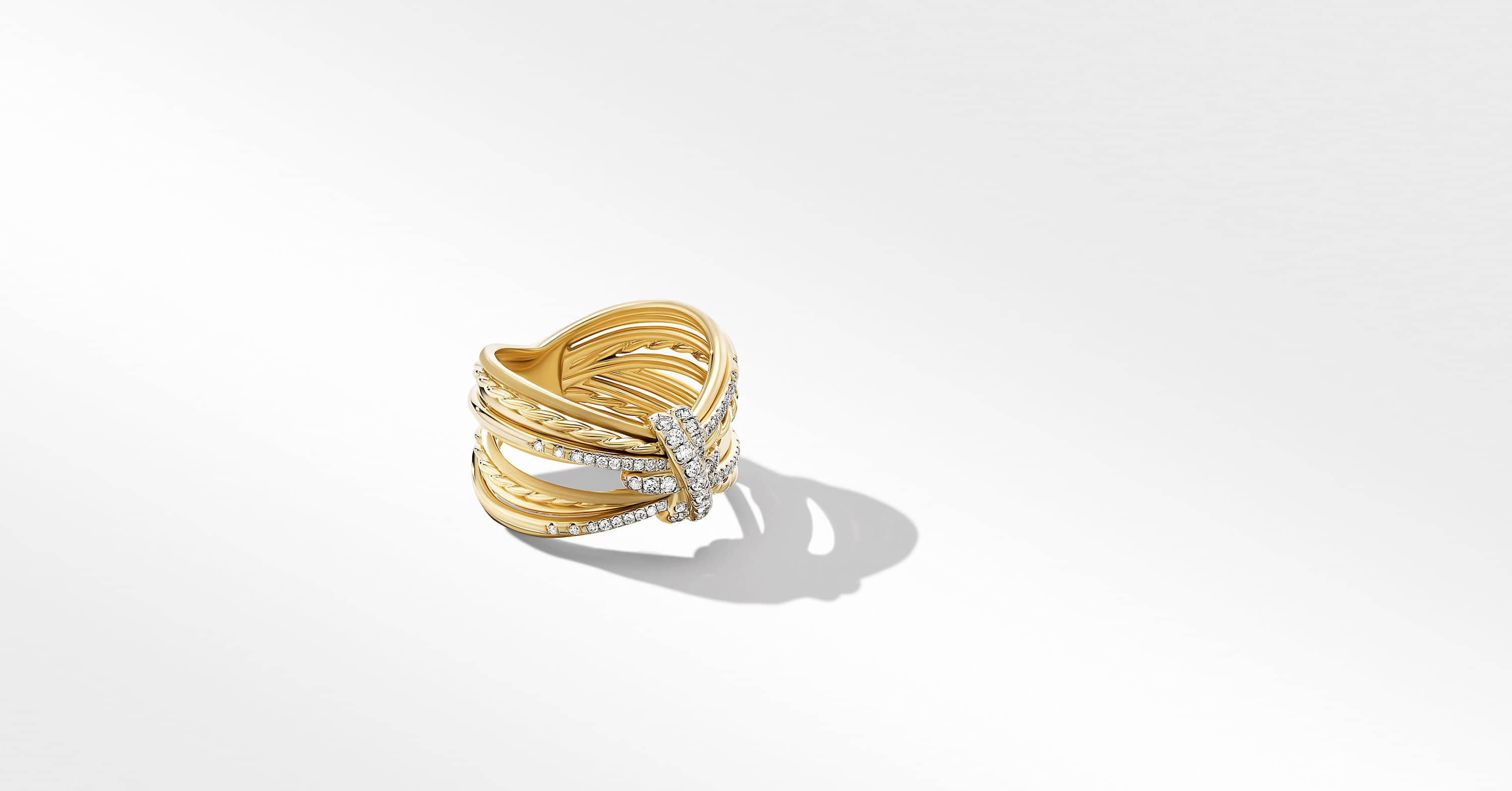 Angelika Maltese Ring in 18K Yellow Gold with Diamonds, 15mm