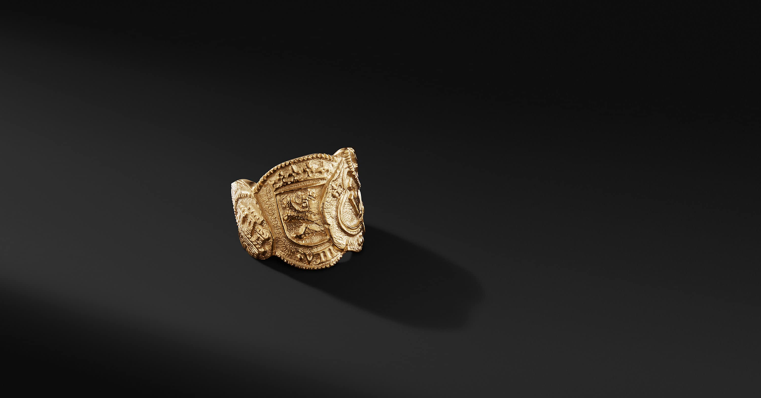 Shipwreck Coin Ring in 22K Gold, 23.5mm