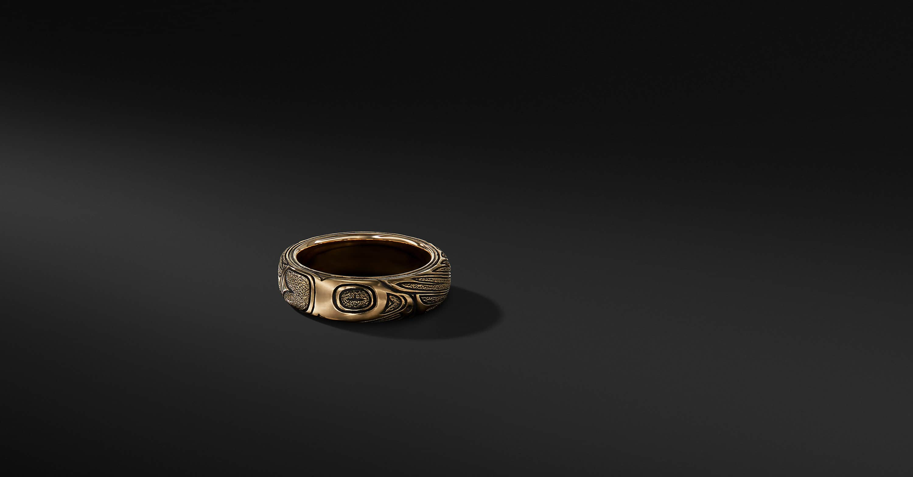 Northwest Band in 18K Gold, 6mm
