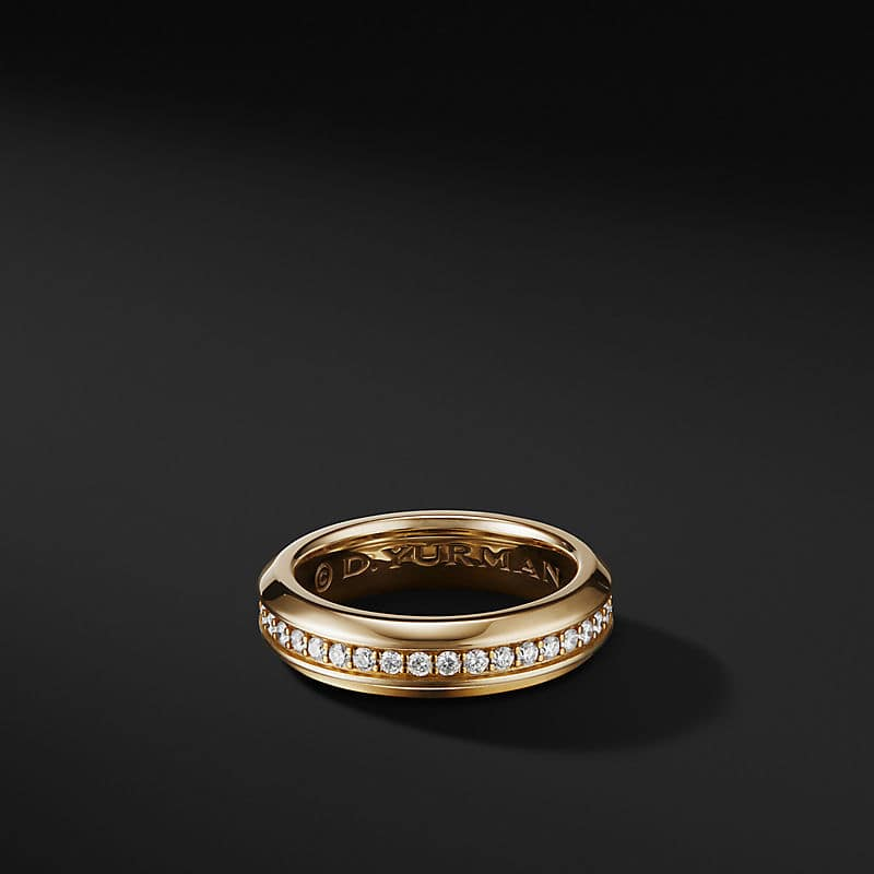 Streamline Band Ring in 18K Yellow Gold, 6mm