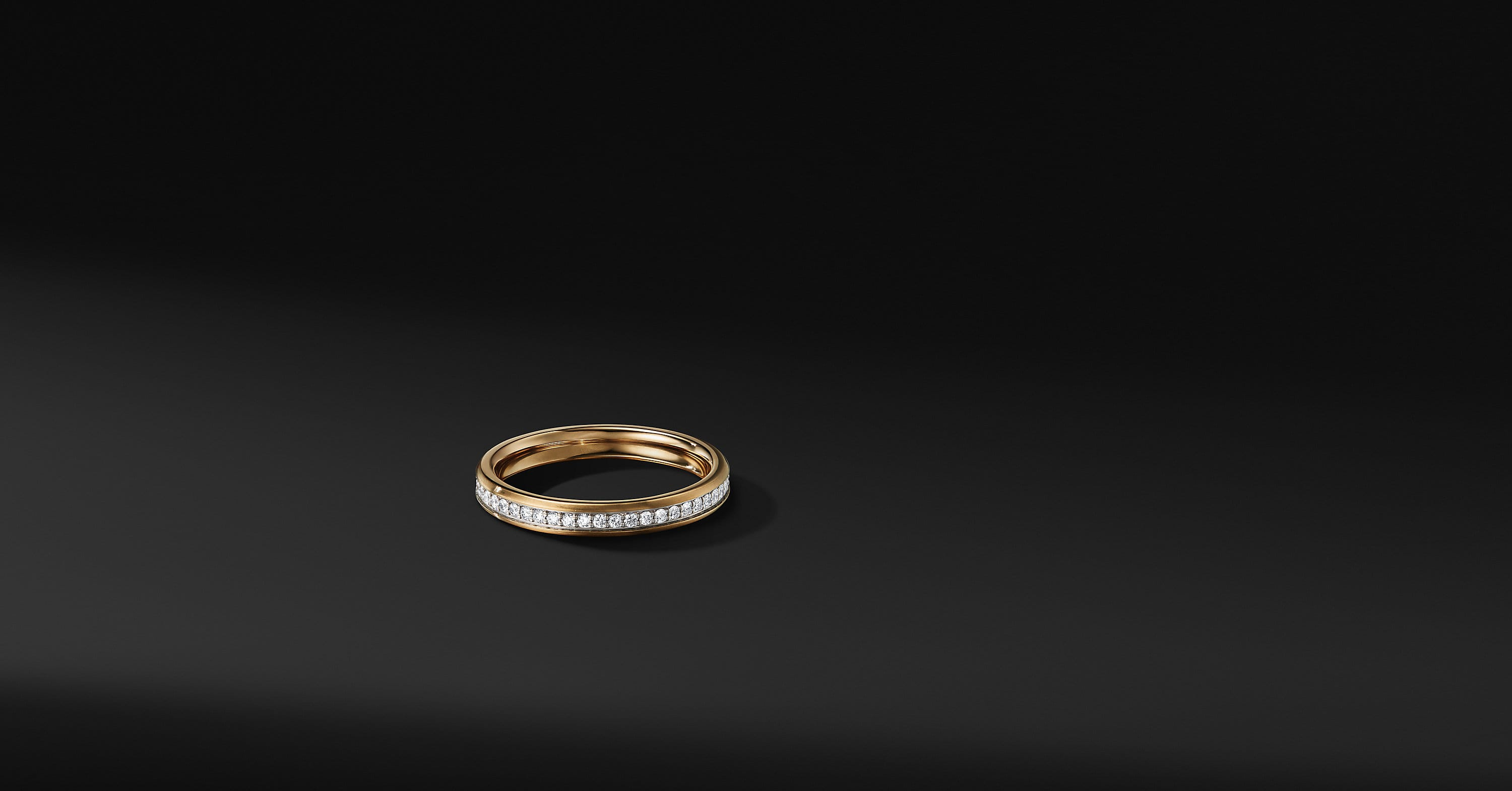Beveled Band in 18K Gold, 3.5mm