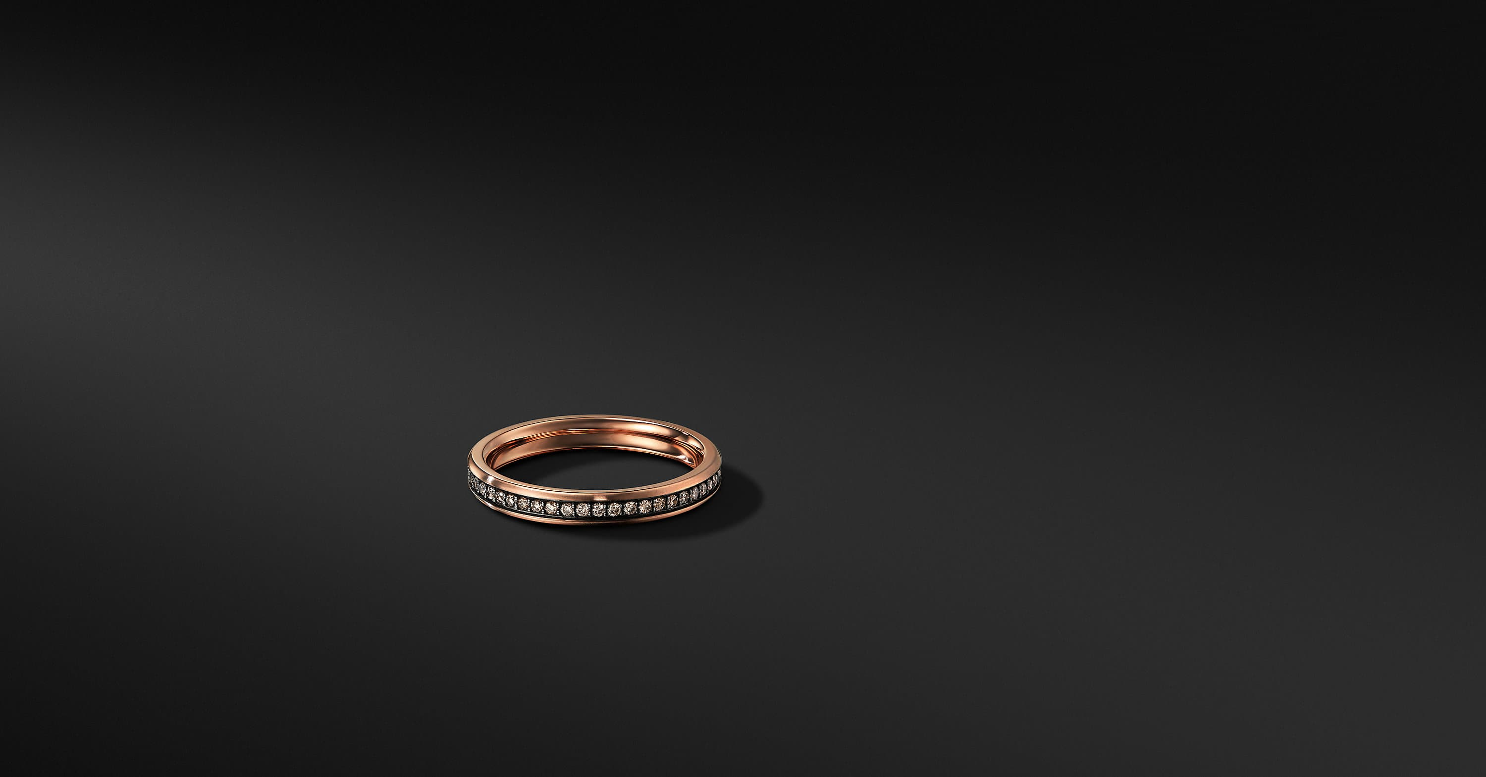 Beveled Band in 18K Rose Gold, 3.5mm