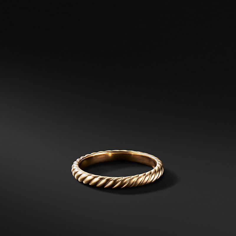 Cable Band in 18K Gold, 3mm