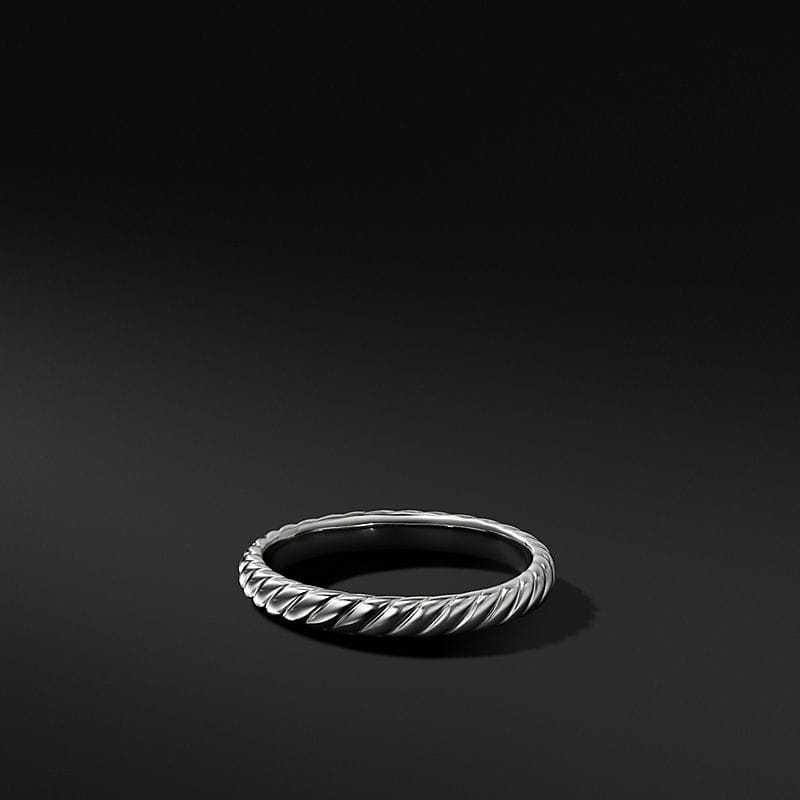 Cable Band in 18K White Gold